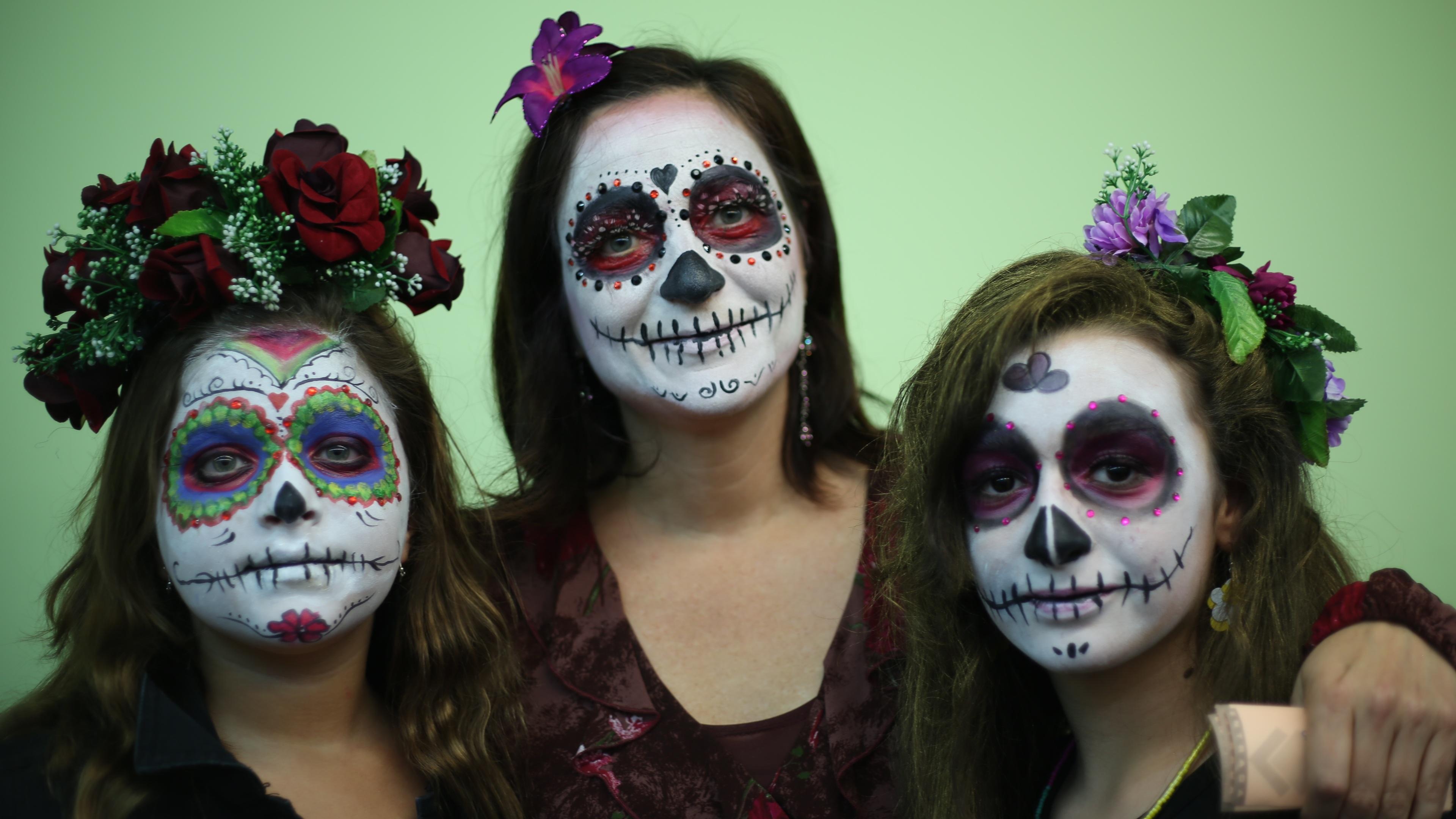 maquillage jour des morts mexique. Black Bedroom Furniture Sets. Home Design Ideas