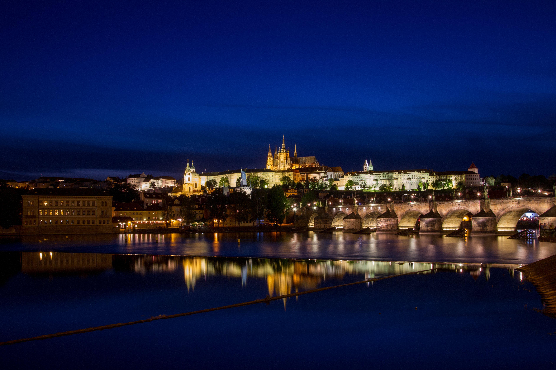 страны архитектура Прага ночь бесплатно