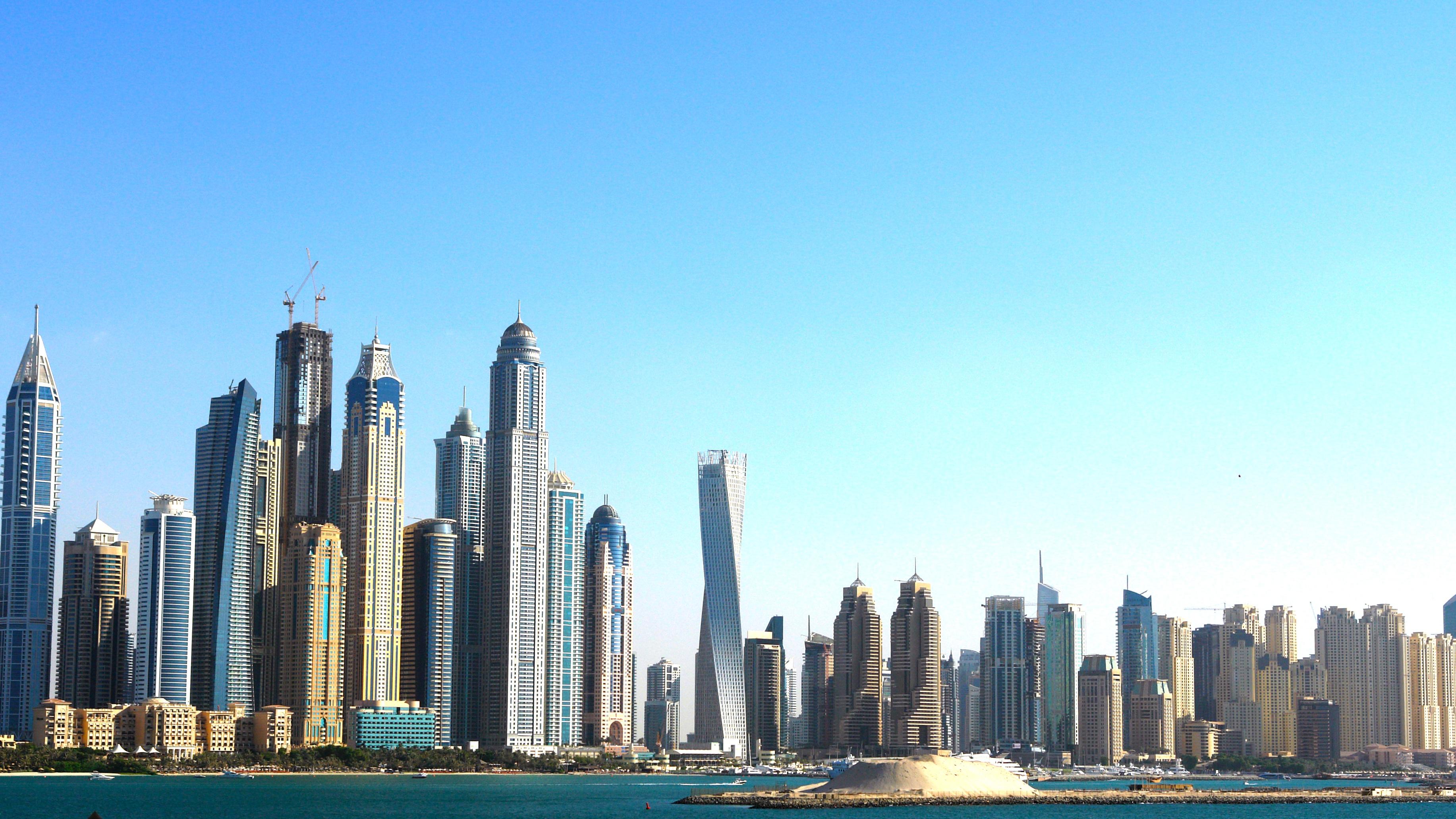horizonte horizonte ciudad rascacielos paisaje urbano centro de la ciudad torre dubai punto de referencia