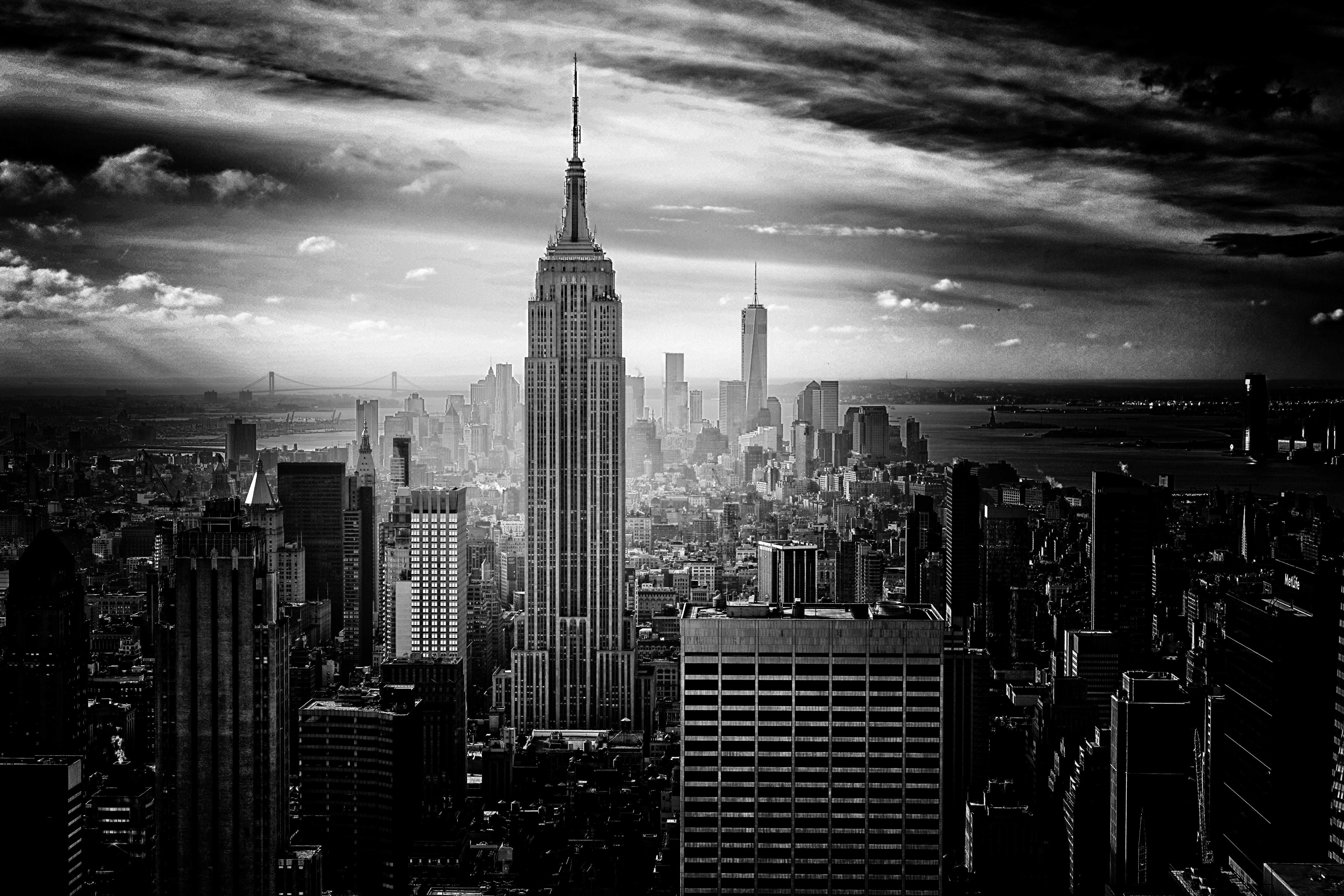 free images horizon black and white skyline night skyscraper
