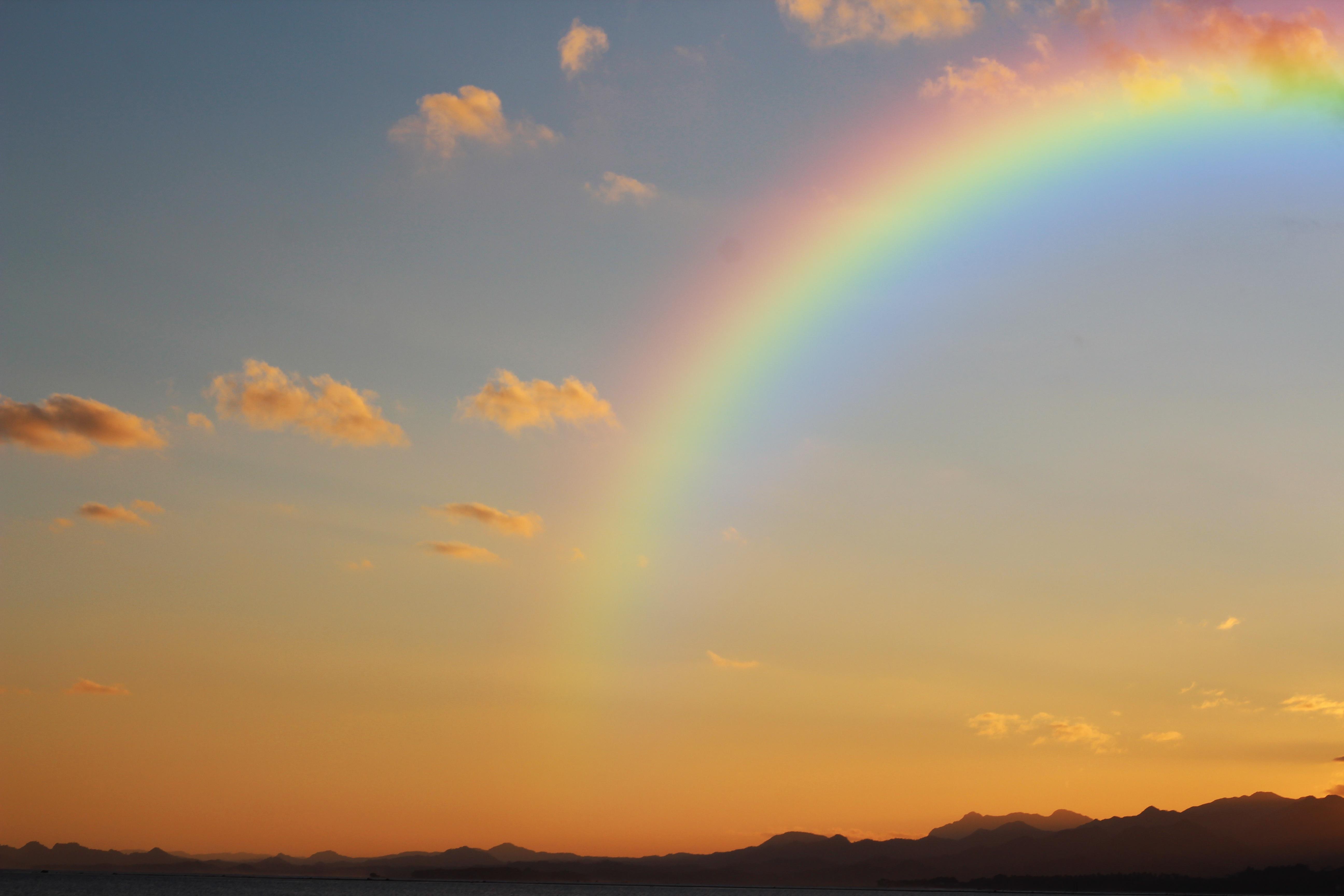 Фото радуга и солнце