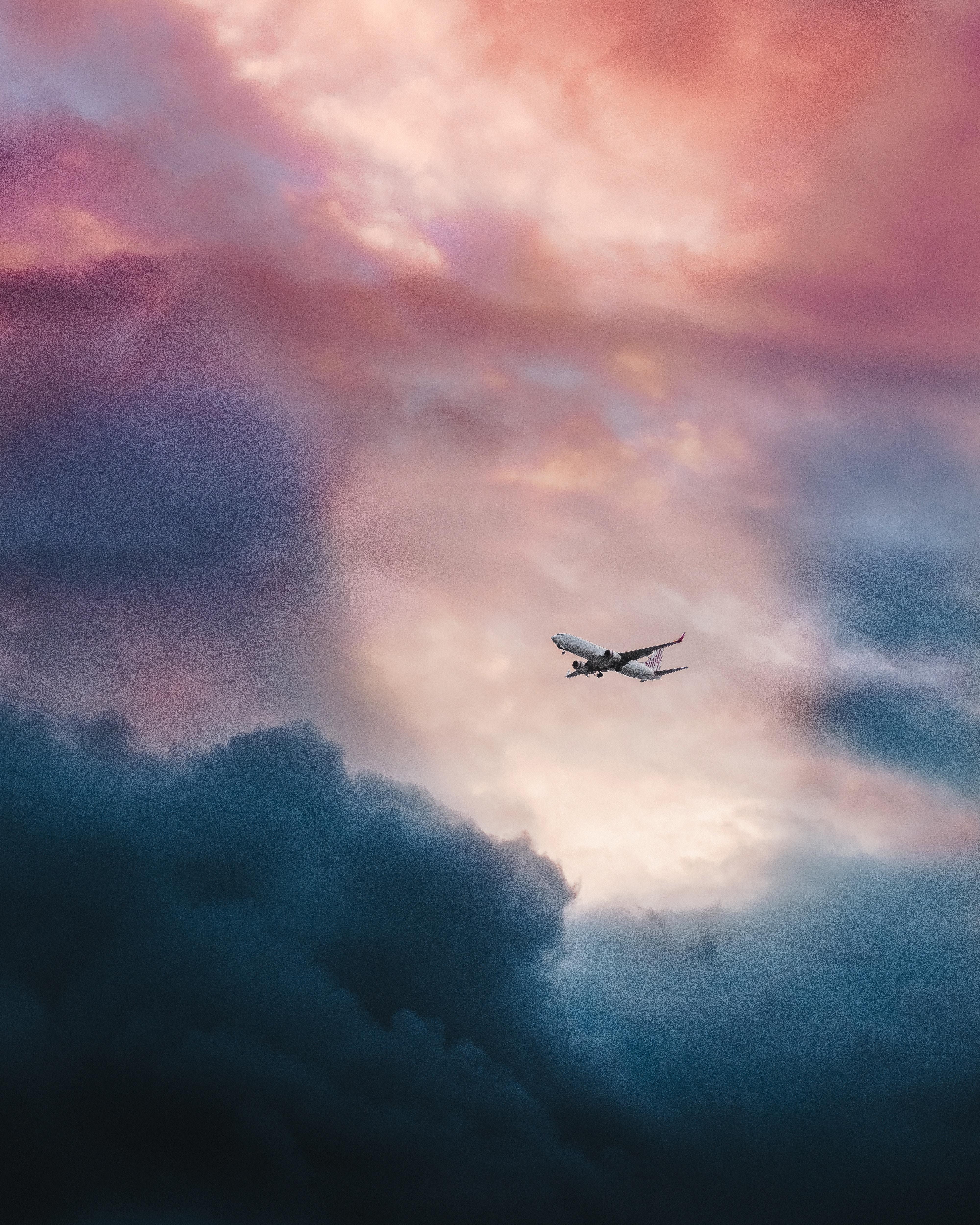 Обои лучи, красота, Самолёт, Облака. Авиация foto 14