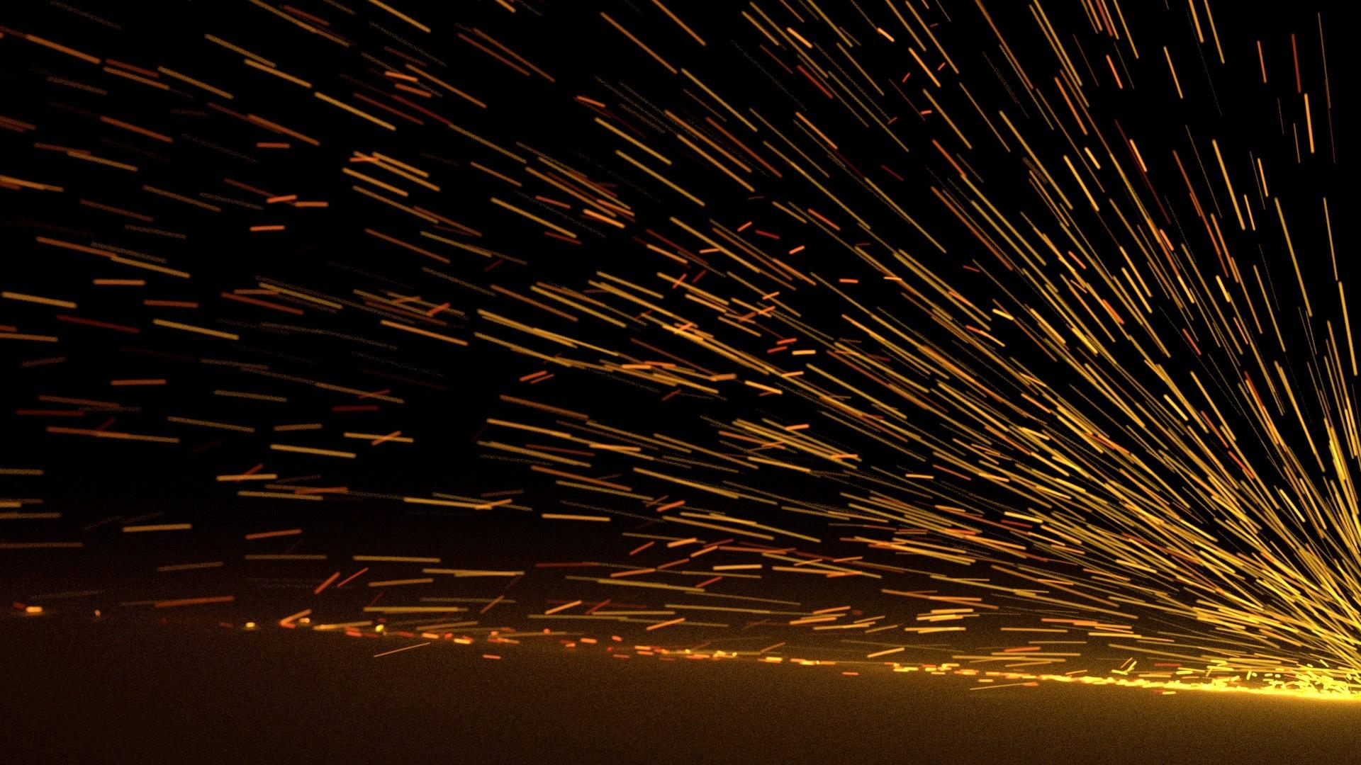 Horizon Light Night Sunlight Dark Steel Line Reflection Metal Desktop Work Glow Darkness Industry Lighting