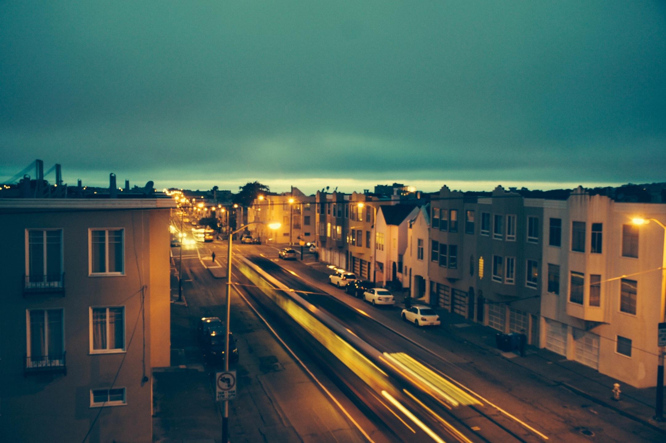 Free Images : horizon, light, sky, sunset, road, night