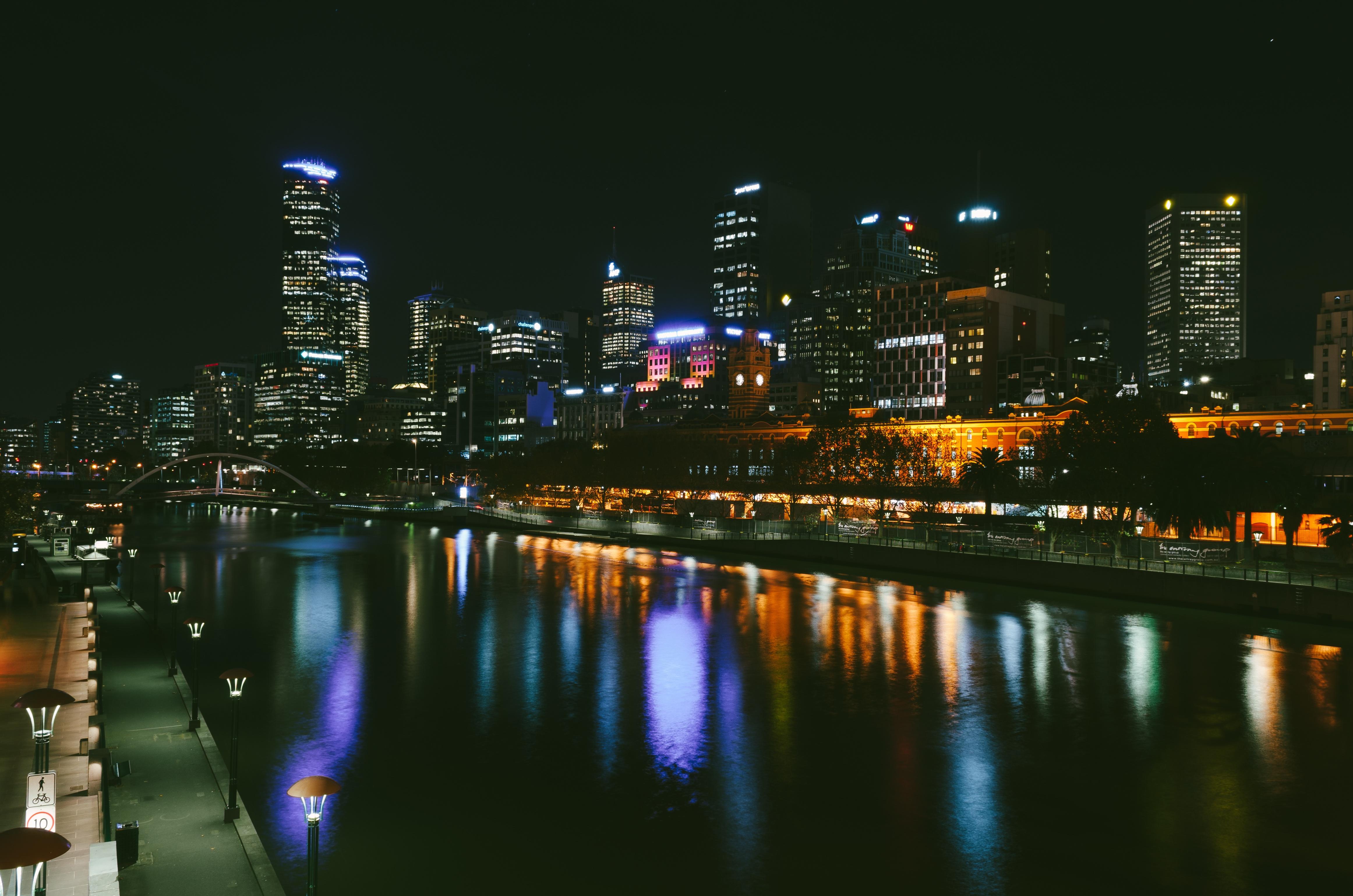 Photographing Cities At Night: Free Images : Horizon, Light, Skyline, Night, City