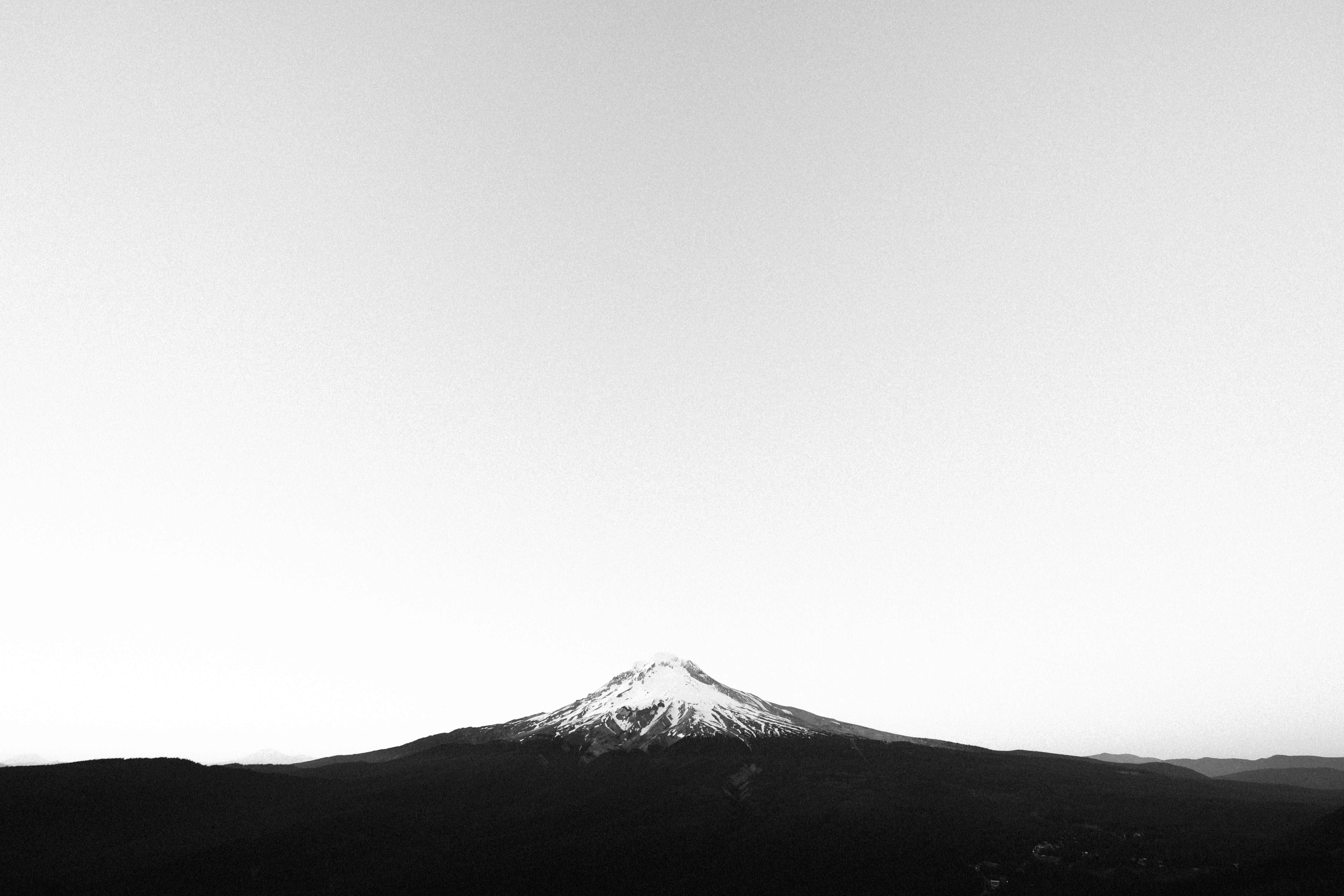 Kostenlose foto : Horizont, Berg, Schwarz und weiß, Weiß, Fotografie ...