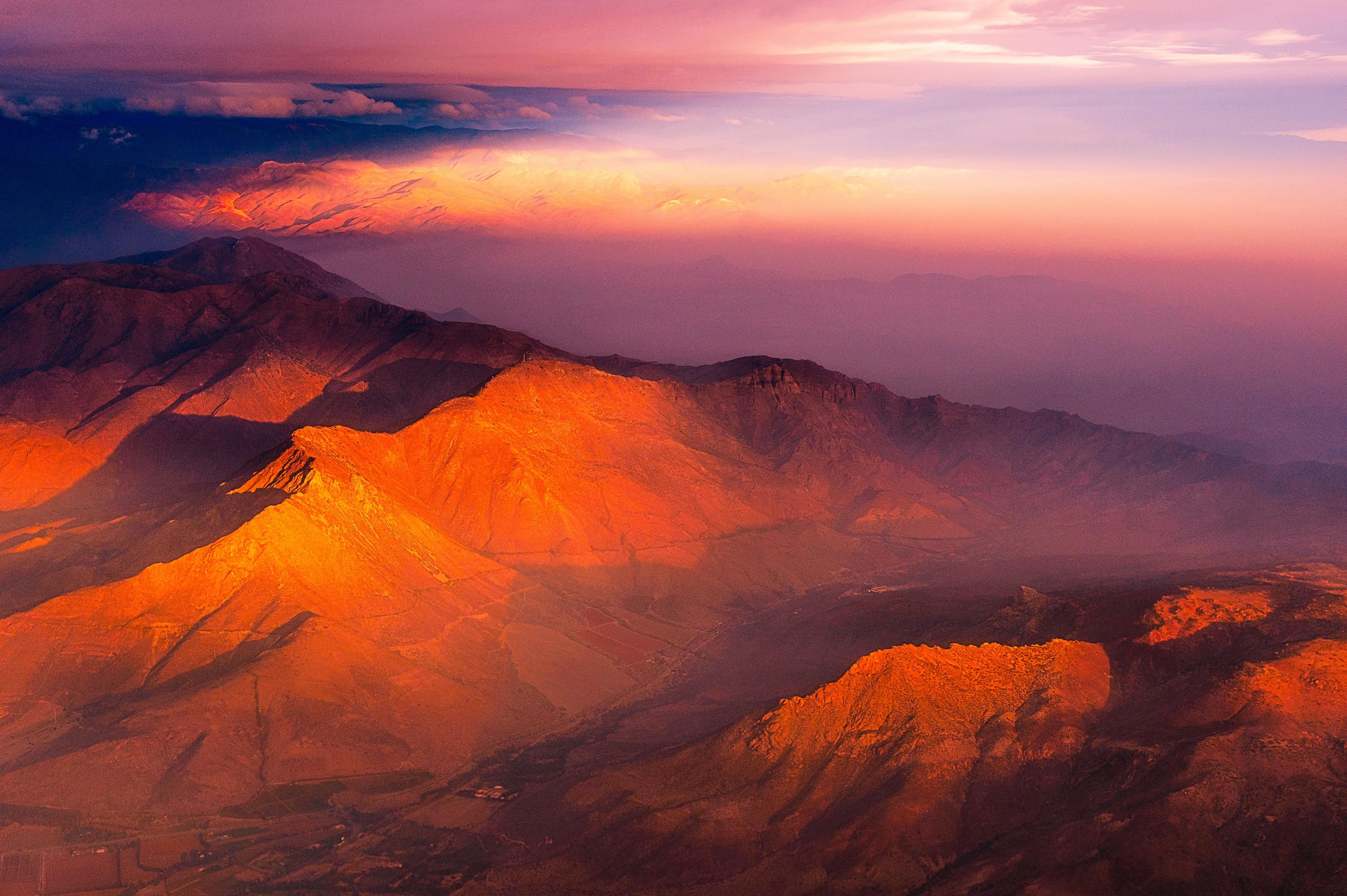 Images gratuites horizon montagne nuage lever du soleil le coucher du soleil matin aube - Photo coucher de soleil montagne ...