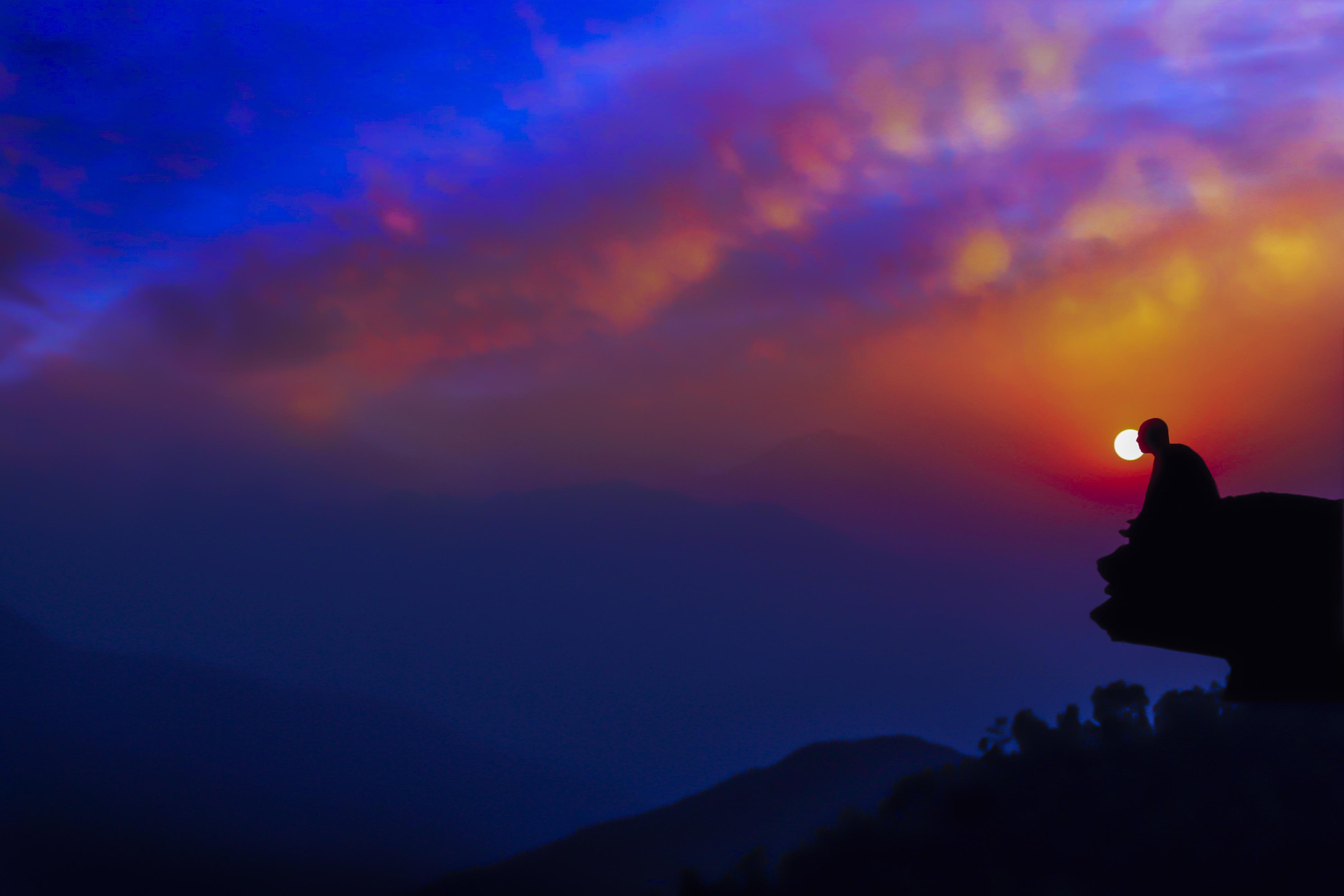 Images Gratuites : horizon, Montagne, nuage, ciel, lever ...