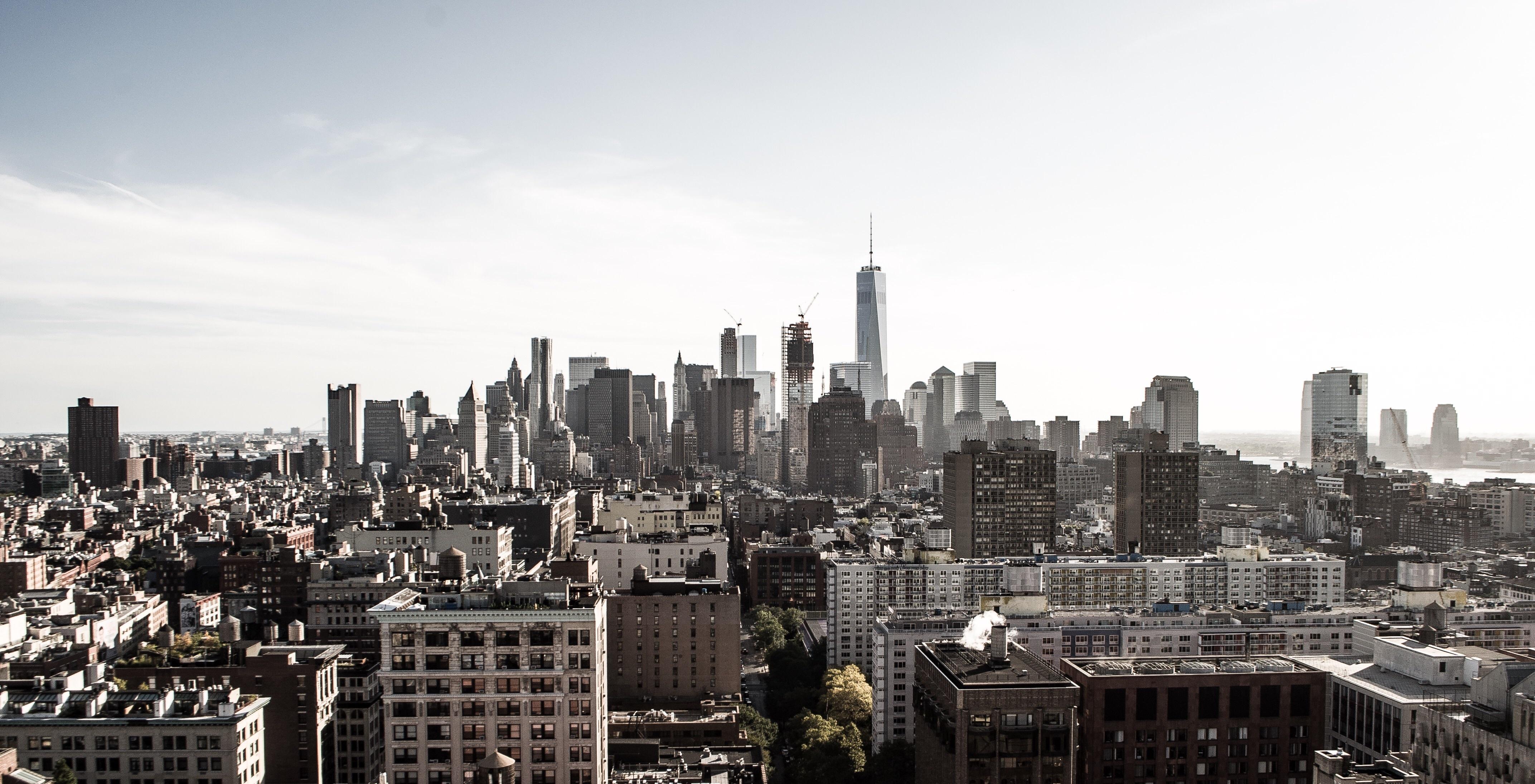 Обои горизонт, здание, new york, небоскребы. Города foto 11