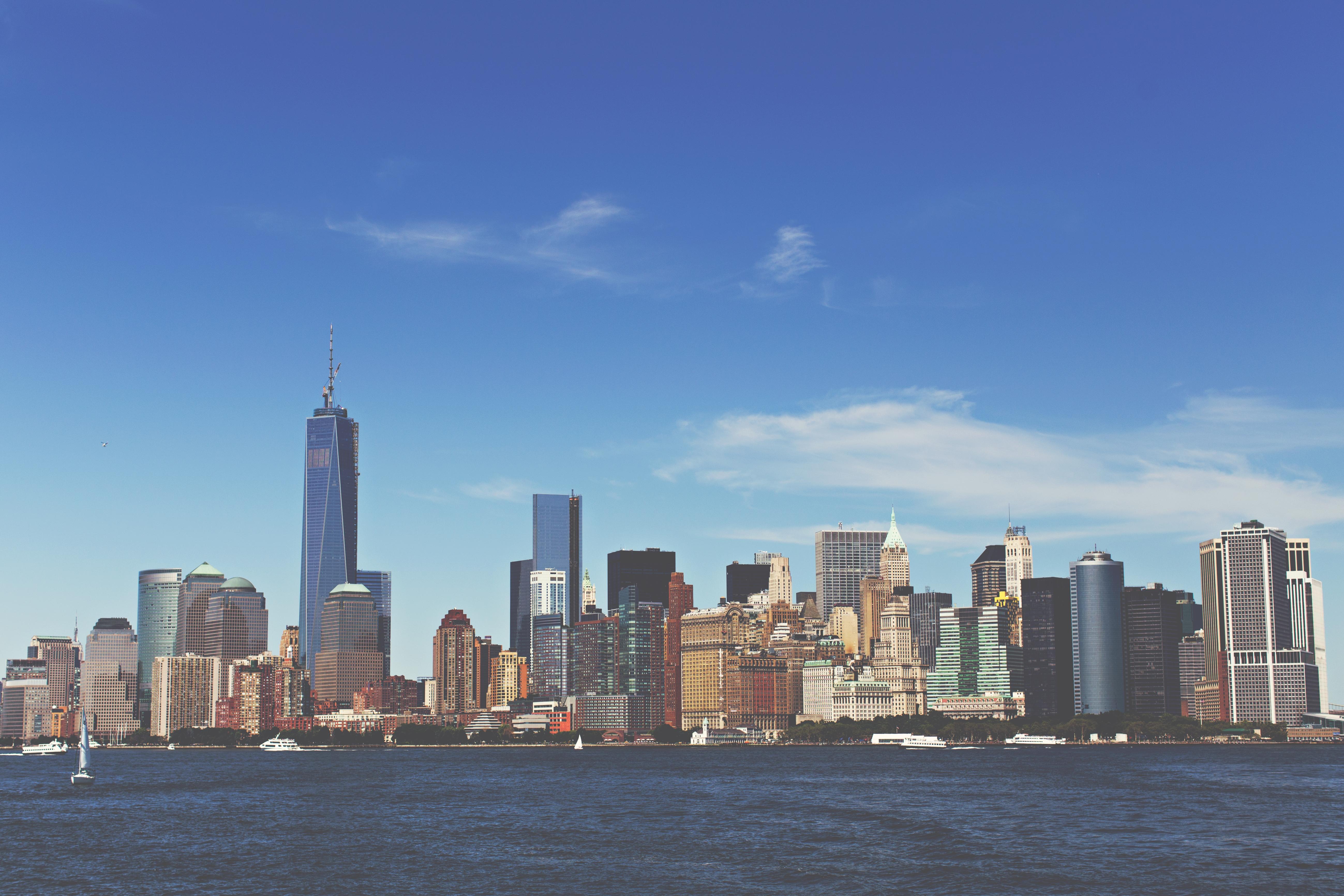 Обои skyline, new, manhattan, york. Города foto 18