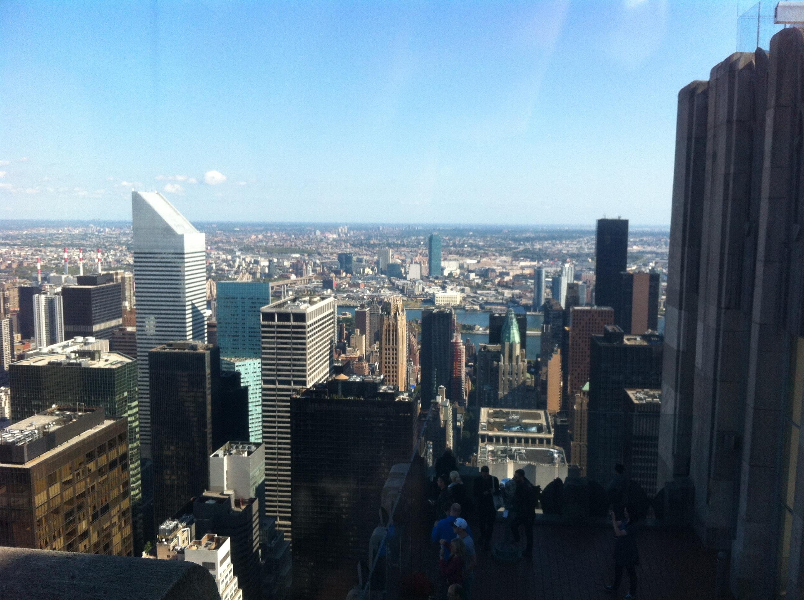 nueva york paisaje urbano panorama centro de la ciudad estados unidos america fiesta punto de referencia bloque de pisos nubes rascacielos