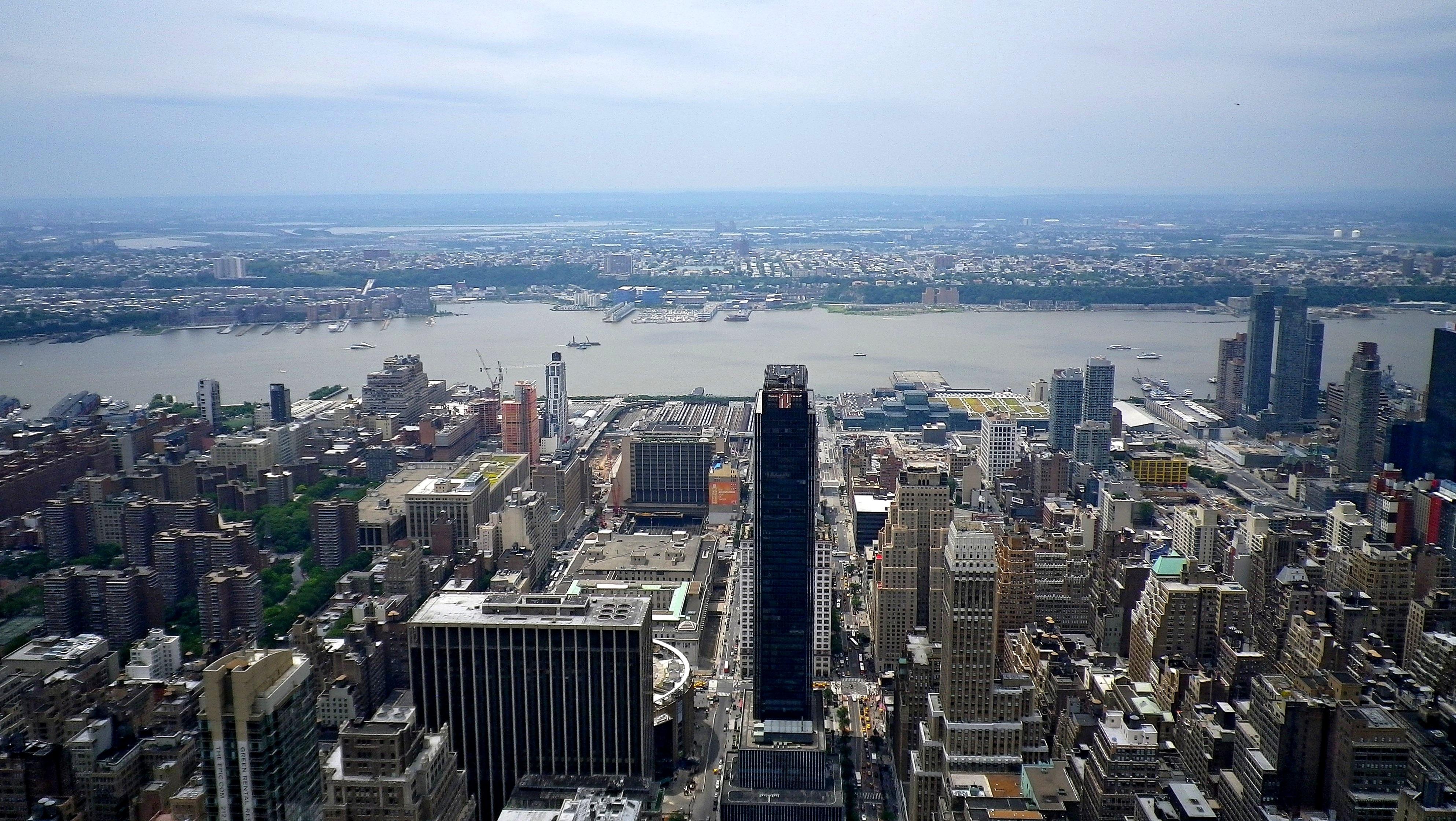 fotos gratis horizonte edificio rascacielos nueva york paisaje urbano panorama centro de la ciudad torre estados unidos punto de referencia