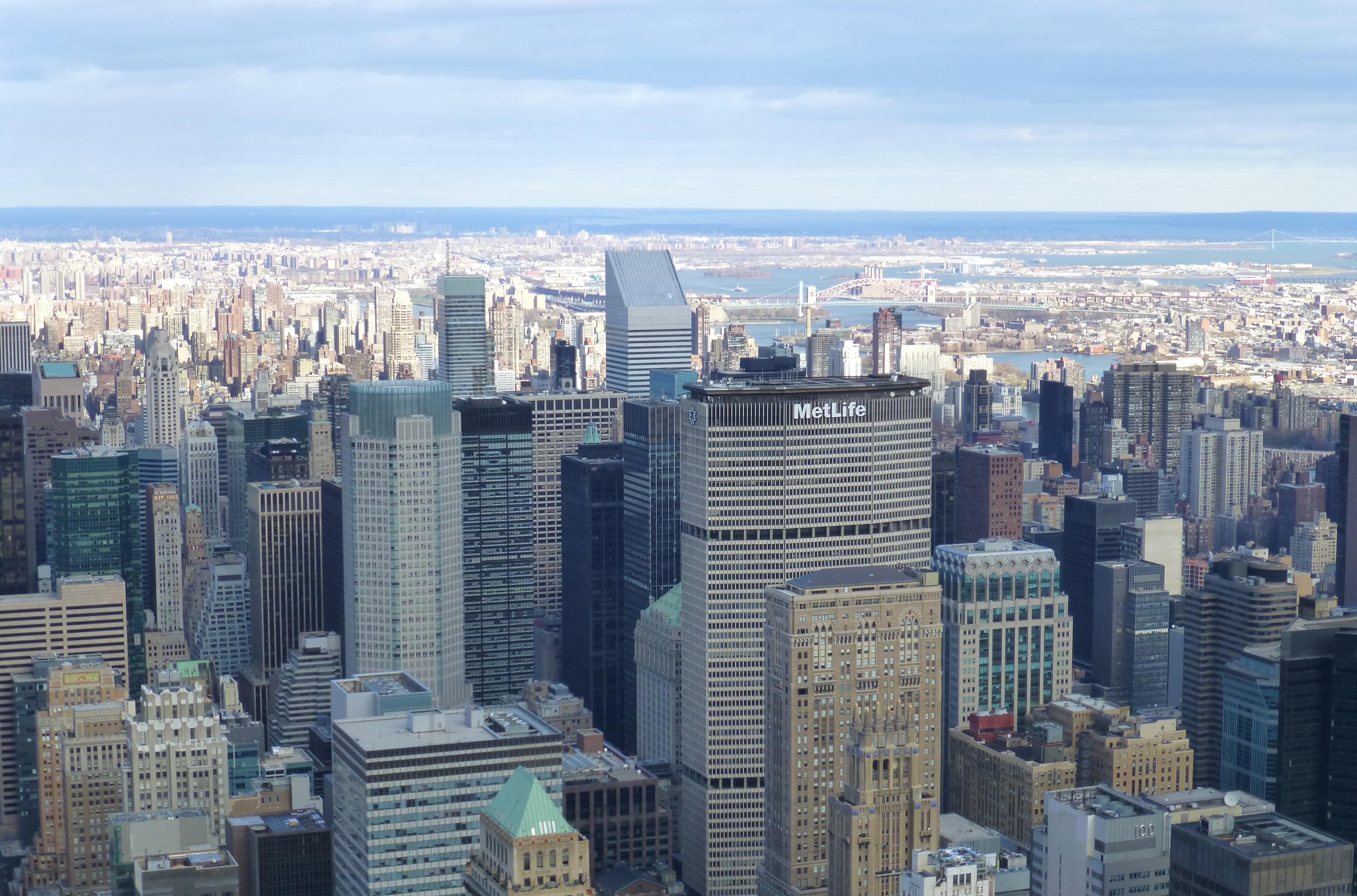 manhattan nueva york paisaje urbano panorama centro de la ciudad panormico torre america punto de referencia bloque de pisos
