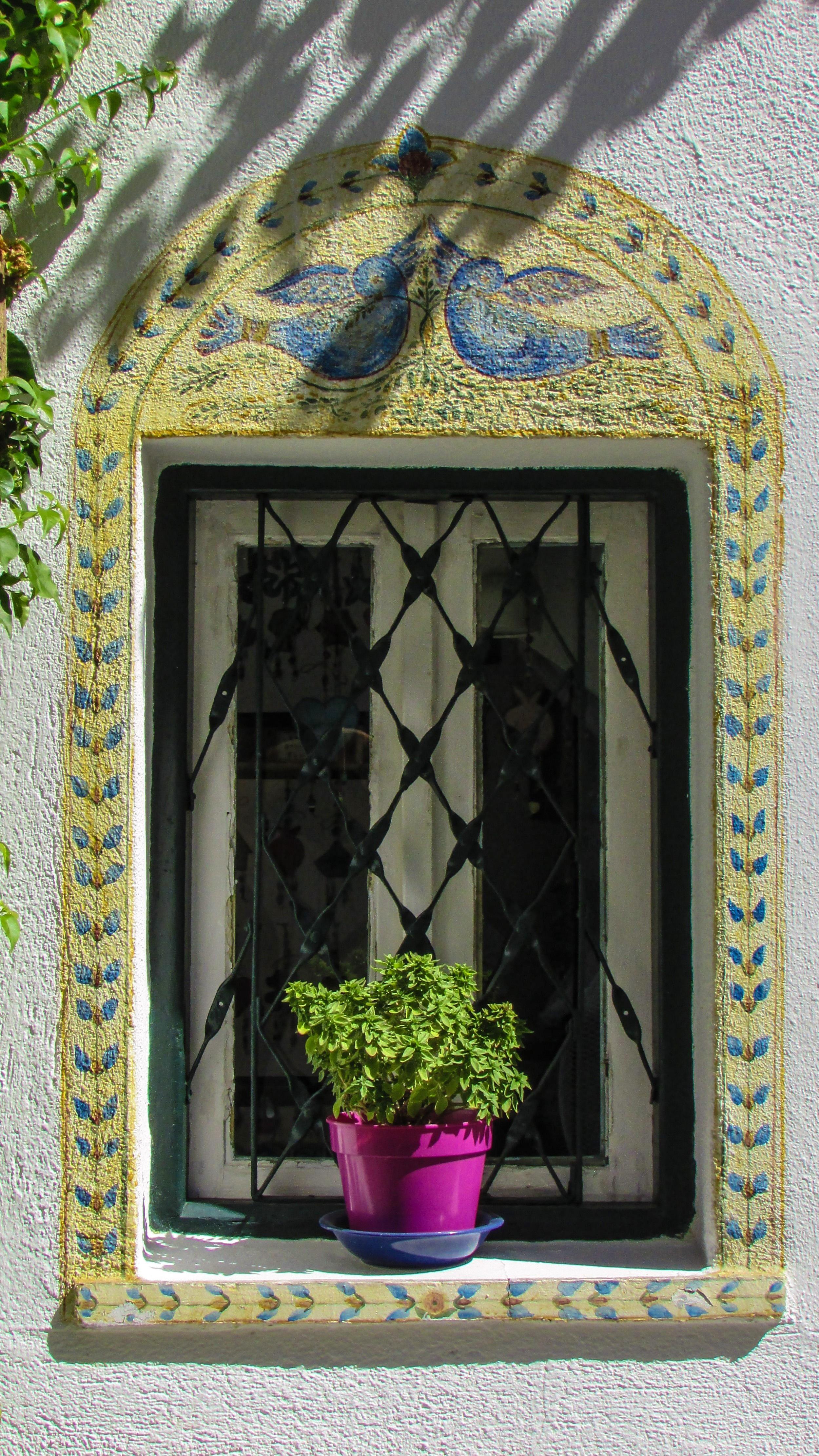 Kostenlose foto : Haus, Blume, Fenster, Glas, Bogen, Grün ...