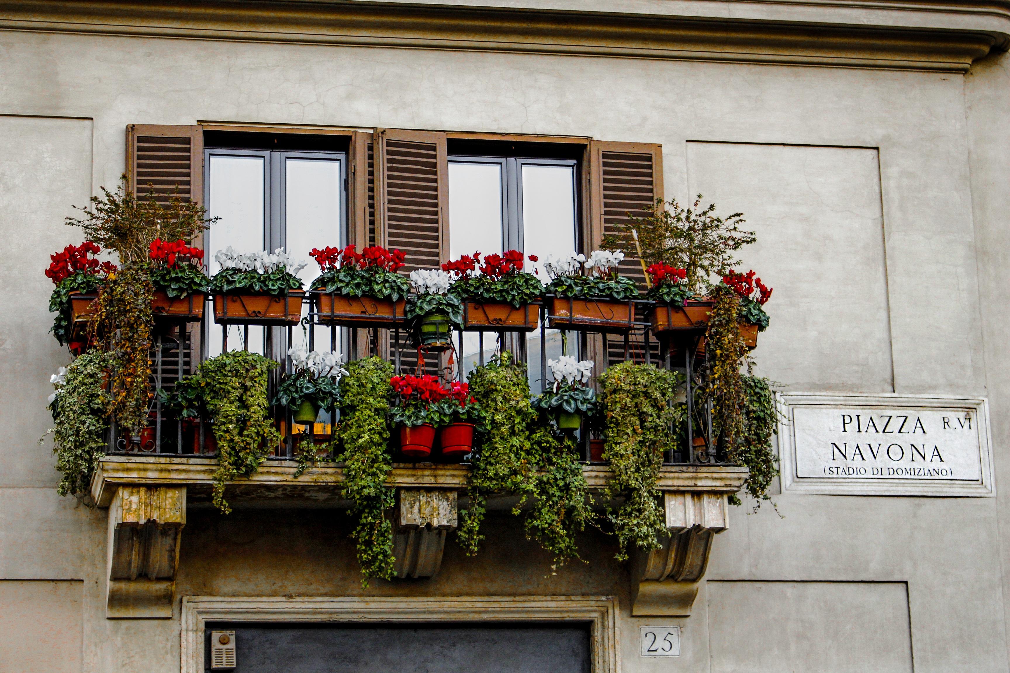 Gambar Rumah Jendela Restoran Balkon Italia Penglihatan