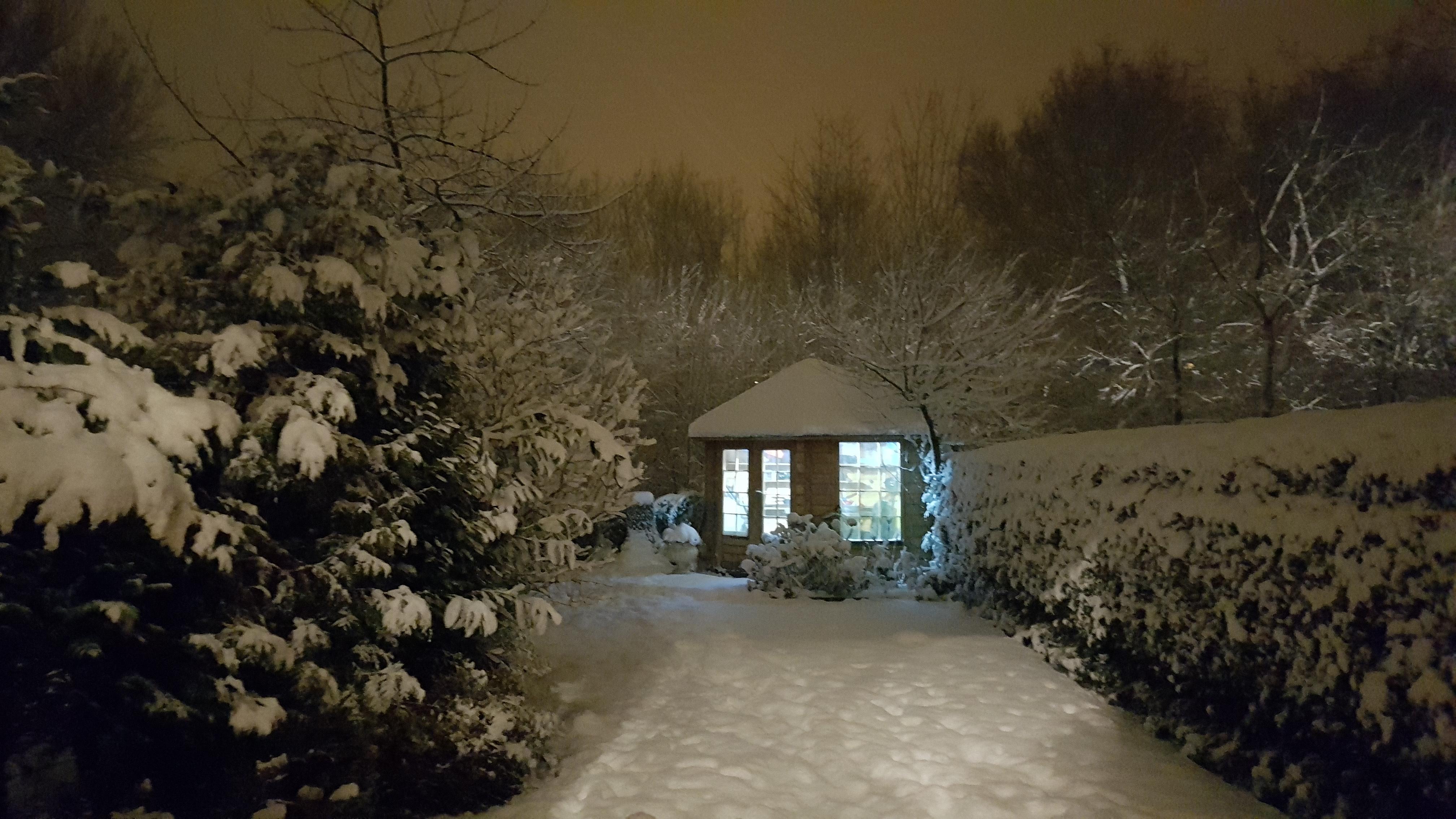 Fotos Gratis Casa Jard 237 N Nieve Invierno Noche
