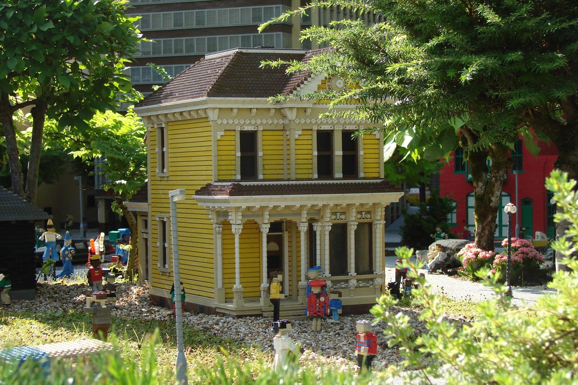 Haus Zuhause Europa Hütte Hinterhof Garten Erholungsort Dänemark Lego Garten  Legoland Bausteine Außenstruktur
