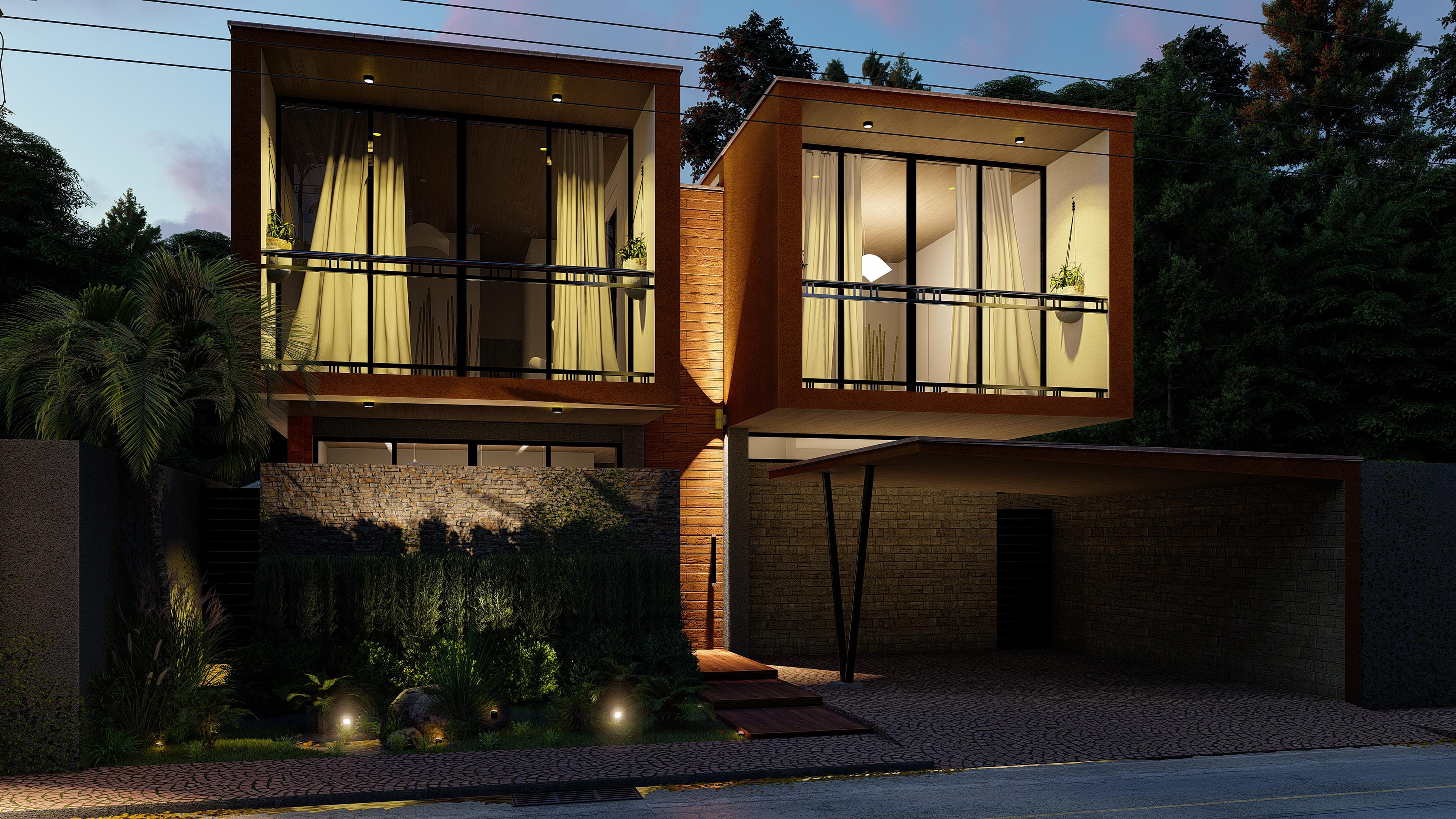 Immagini belle casa proprietà zona residenziale architettura