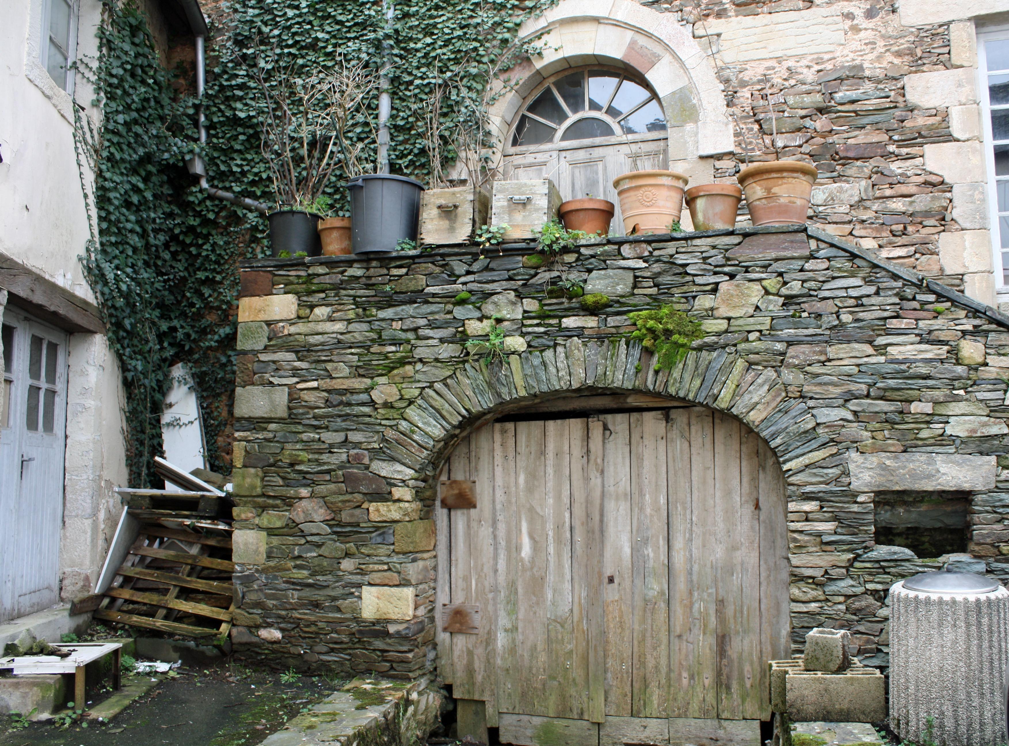 Fotos Gratis Antiguo Pared Piedra Arco Cabaña Fachada