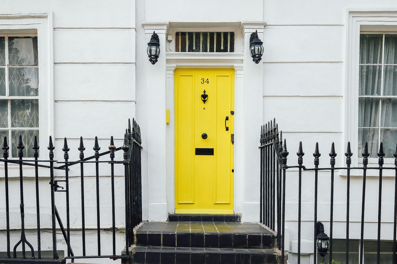Free house window home facade furniture gate yellow