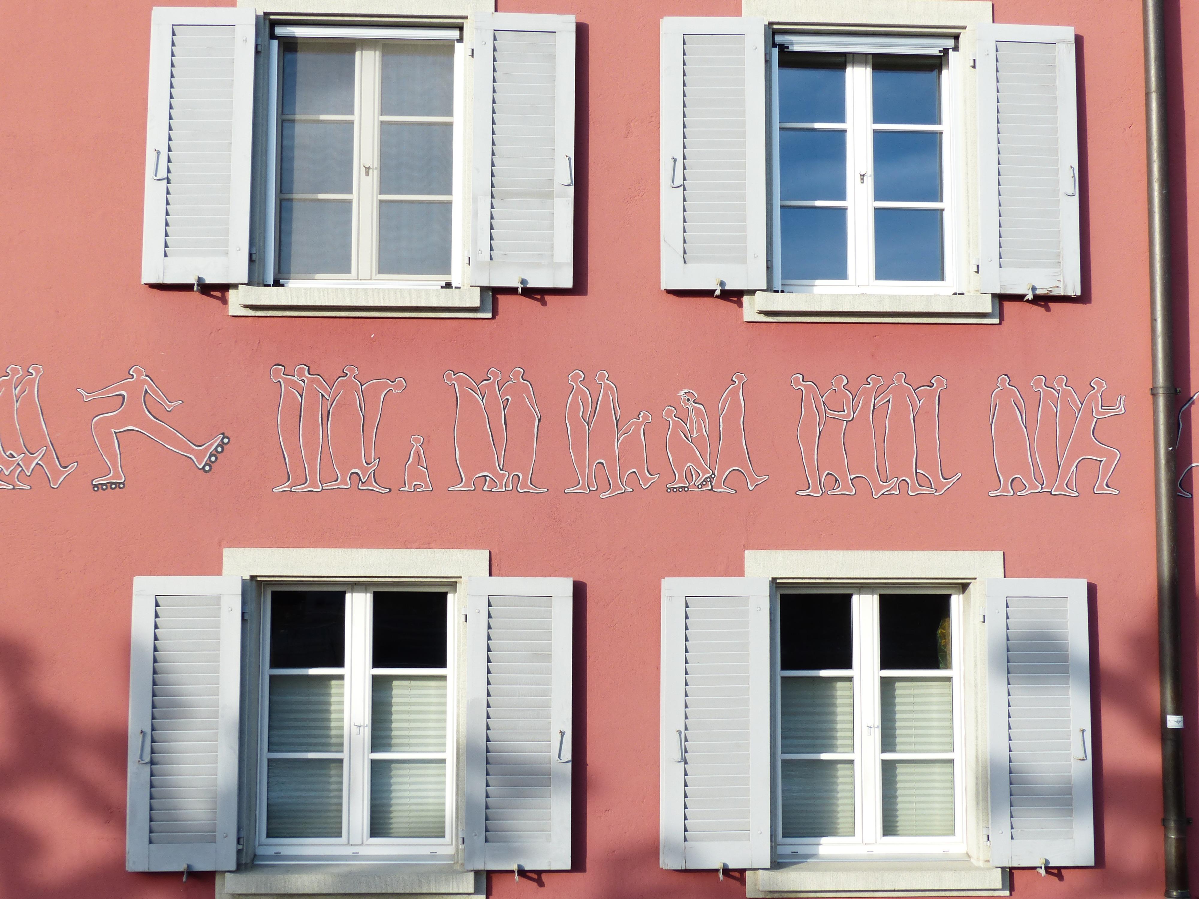 images gratuites maison mur balcon chalet couleur. Black Bedroom Furniture Sets. Home Design Ideas
