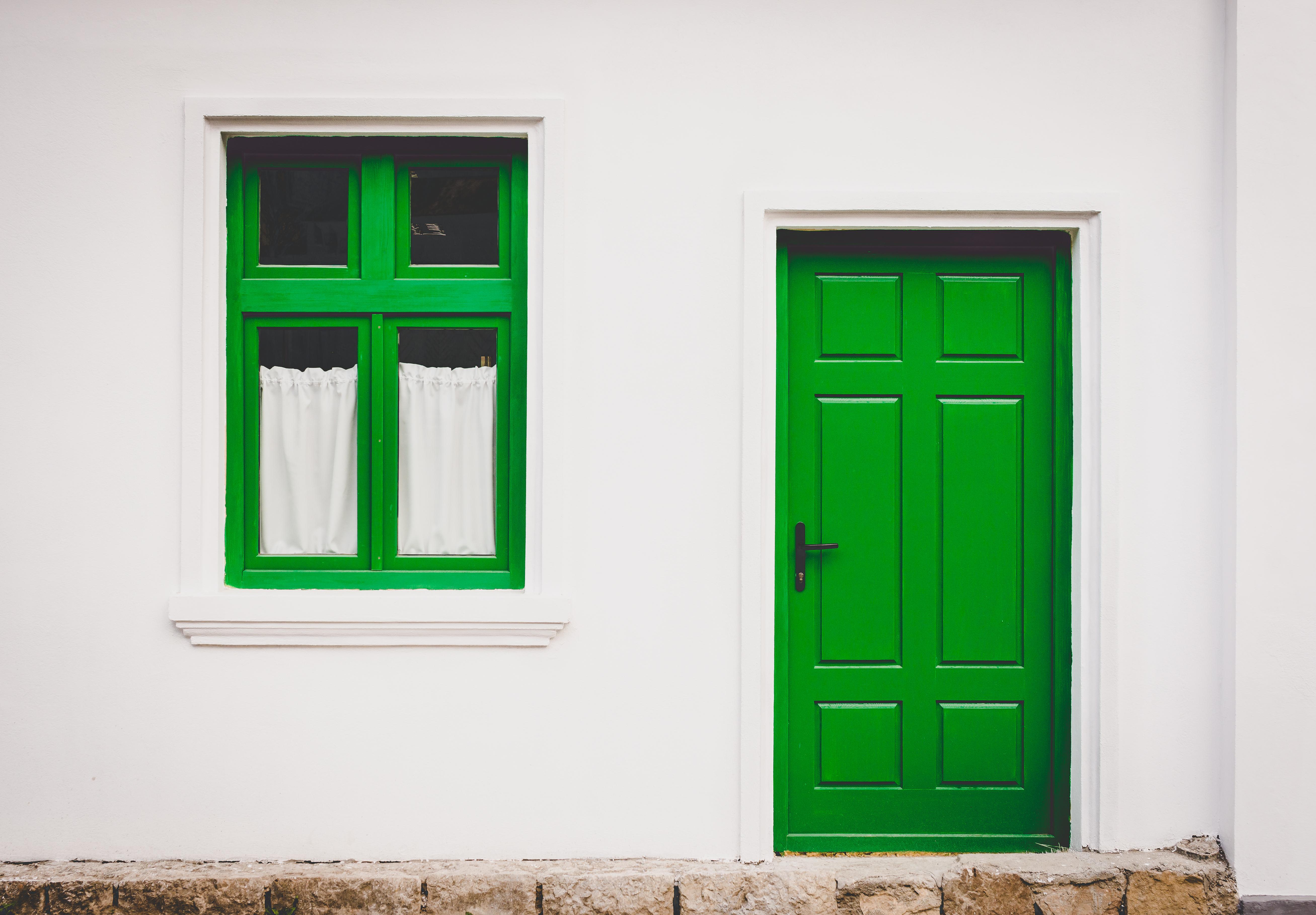 house window wall green entrance door closed & Free Images : house window wall green entrance door closed ...