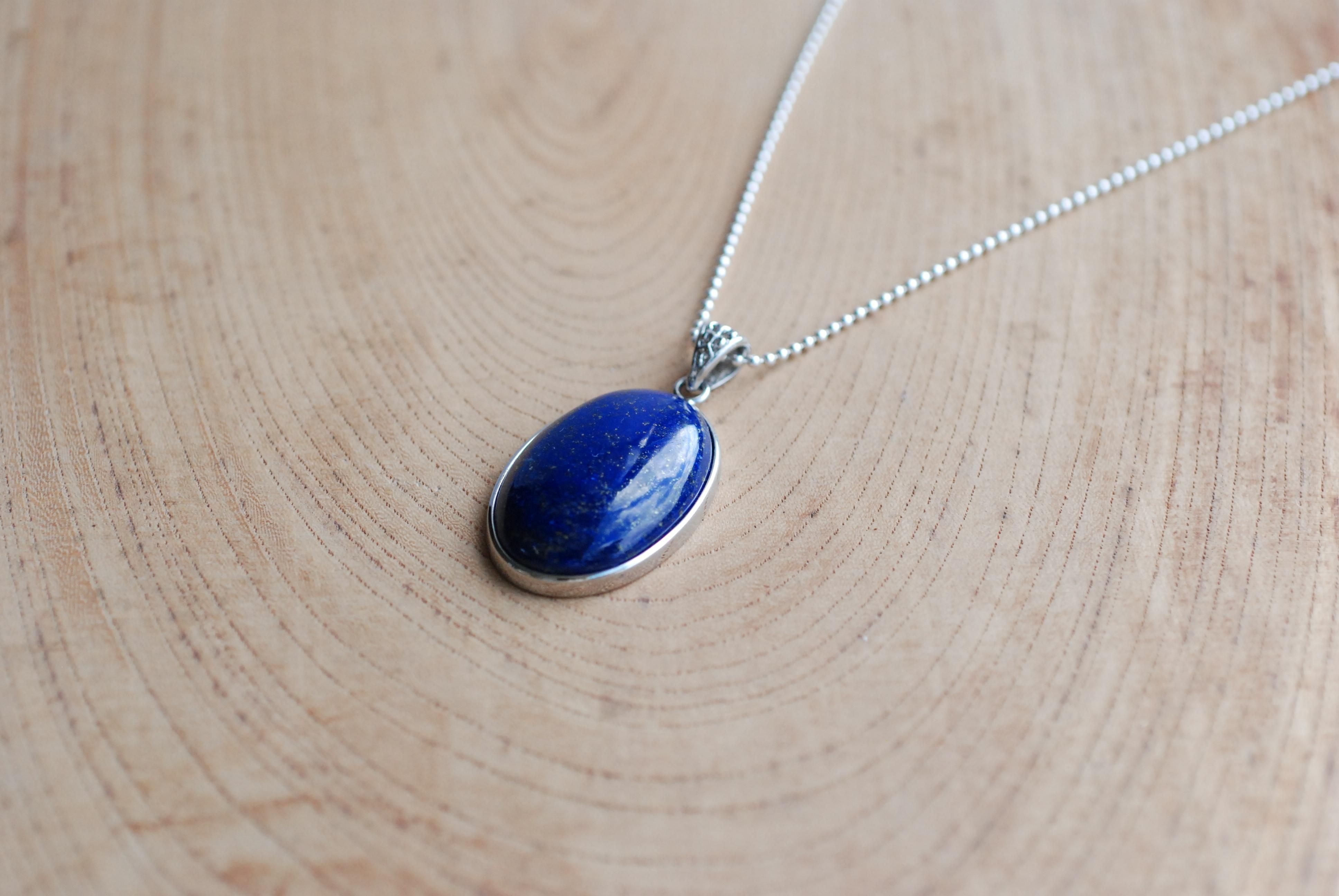perhiasan lingkaran kalung perhiasan anting-anting aksesoris batu permata lapis lazuli liontin liontin fashion aksesori