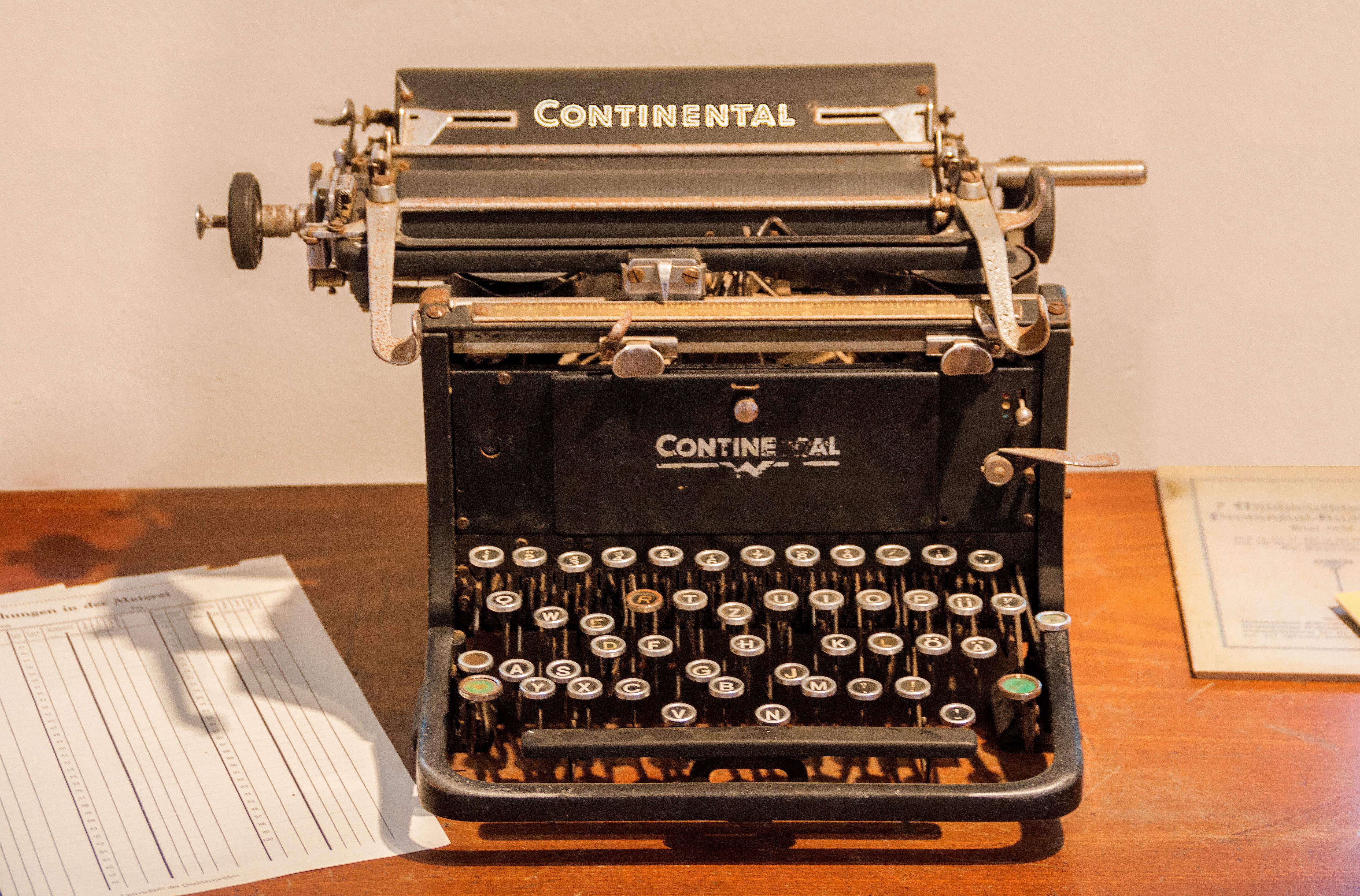 Keyboard Vintage Retro Leaf Old Typewriter Office Nostalgia Paper Old  Typewriter Tap Text Keys Letters Input