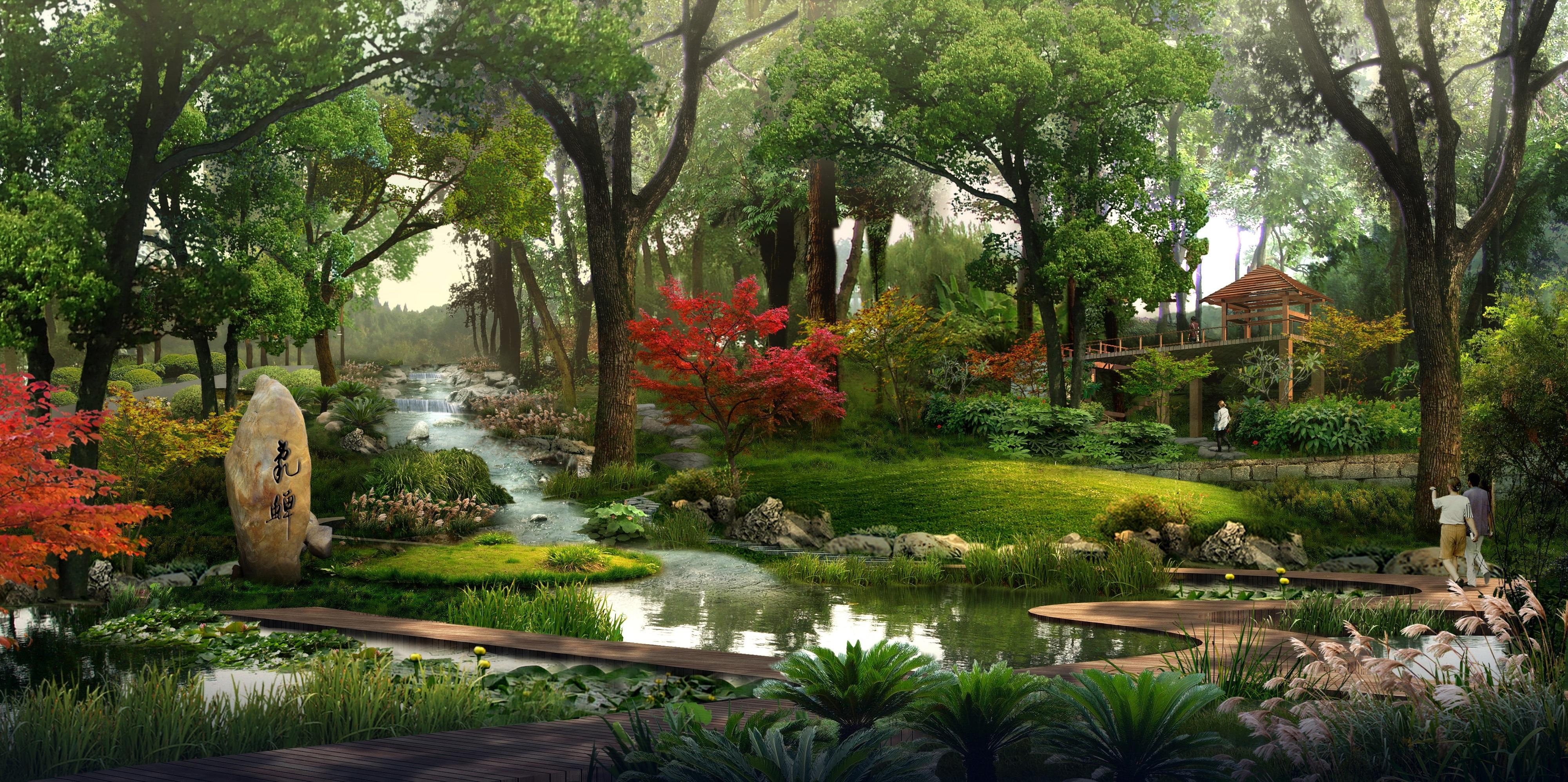 Fotos gratis paisaje arquitectura flor edificio for Imagenes de jardines con estanques