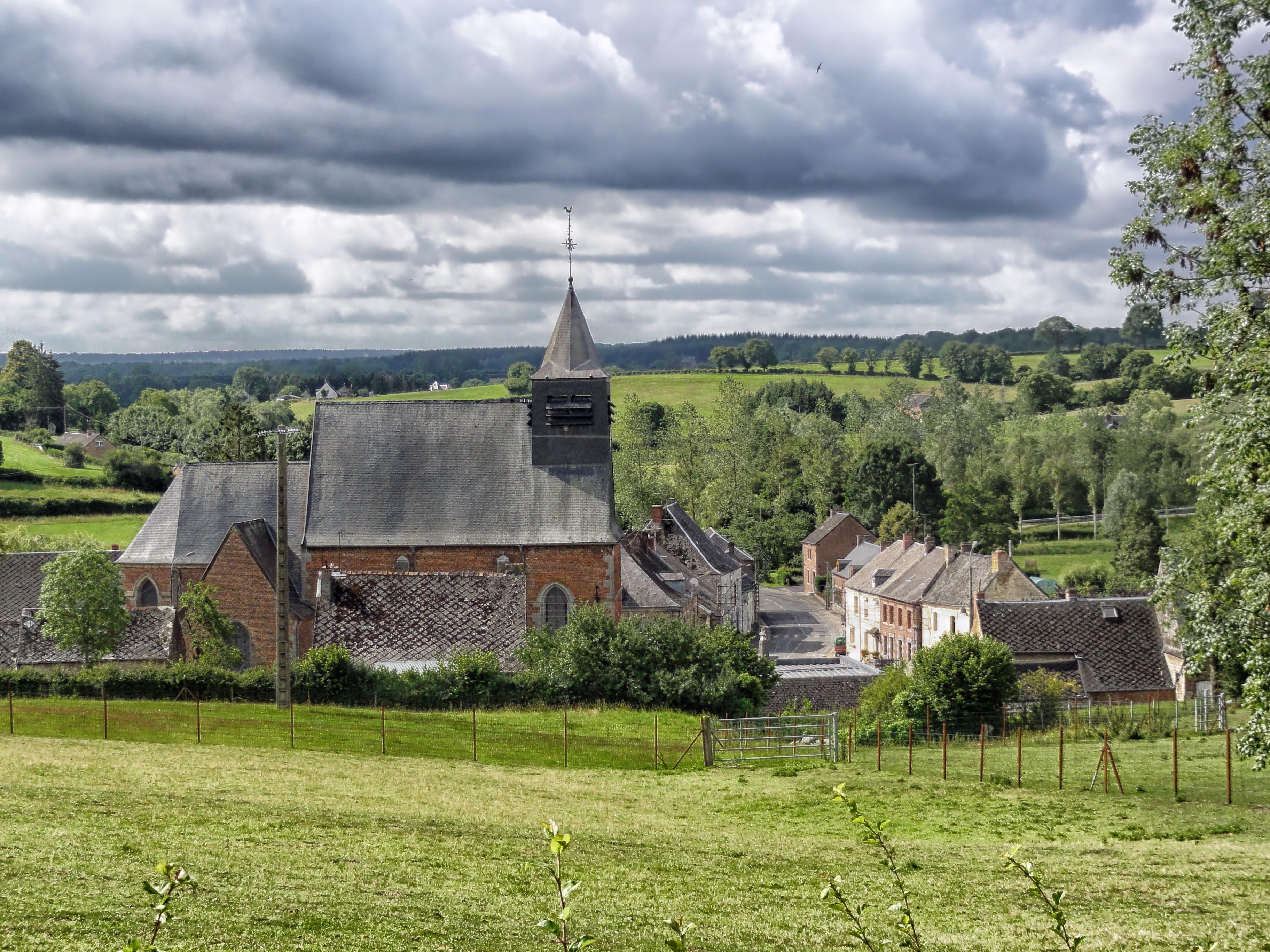 Images gratuites paysage architecture ciel champ for Architecture maison de campagne