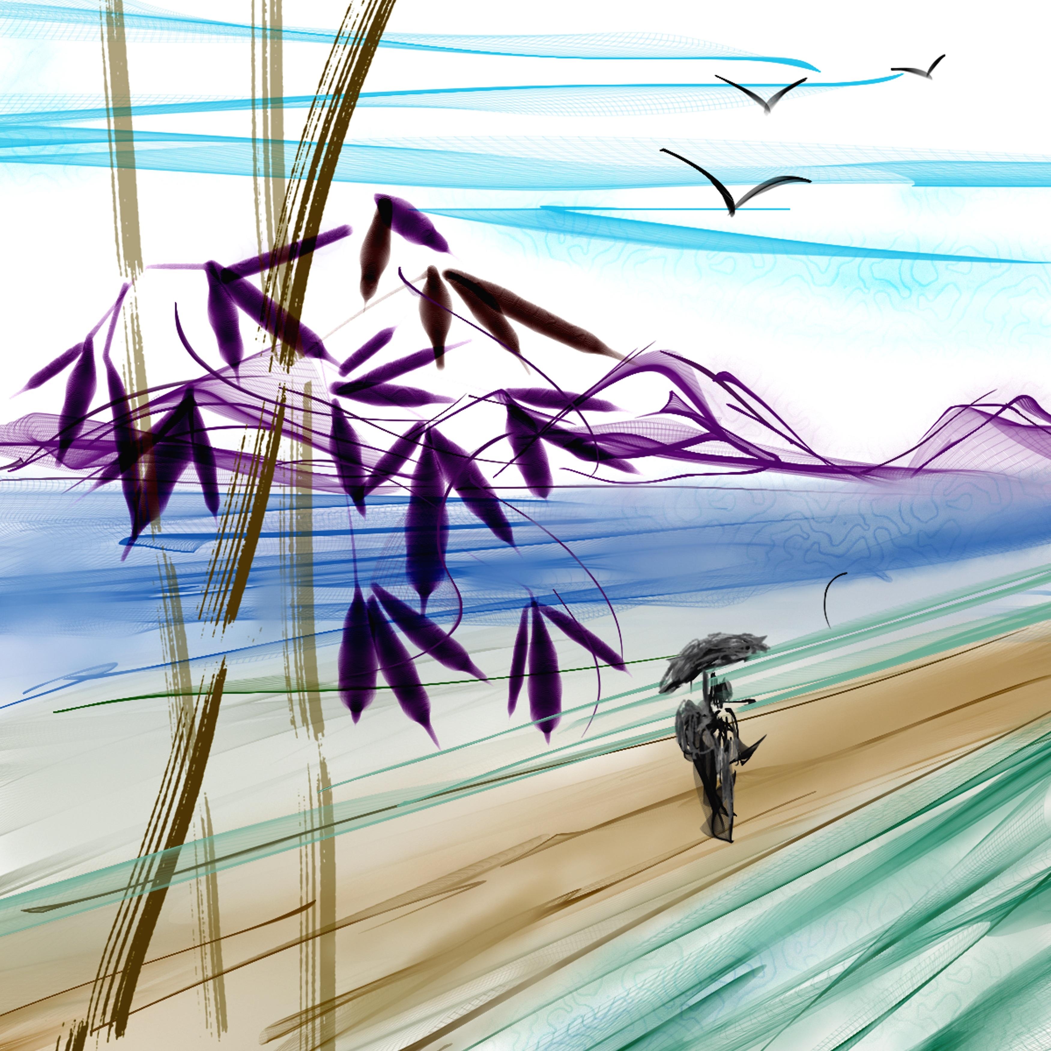 Gambar Pemandangan Asia Garis Jepang Seni Sketsa Ilustrasi
