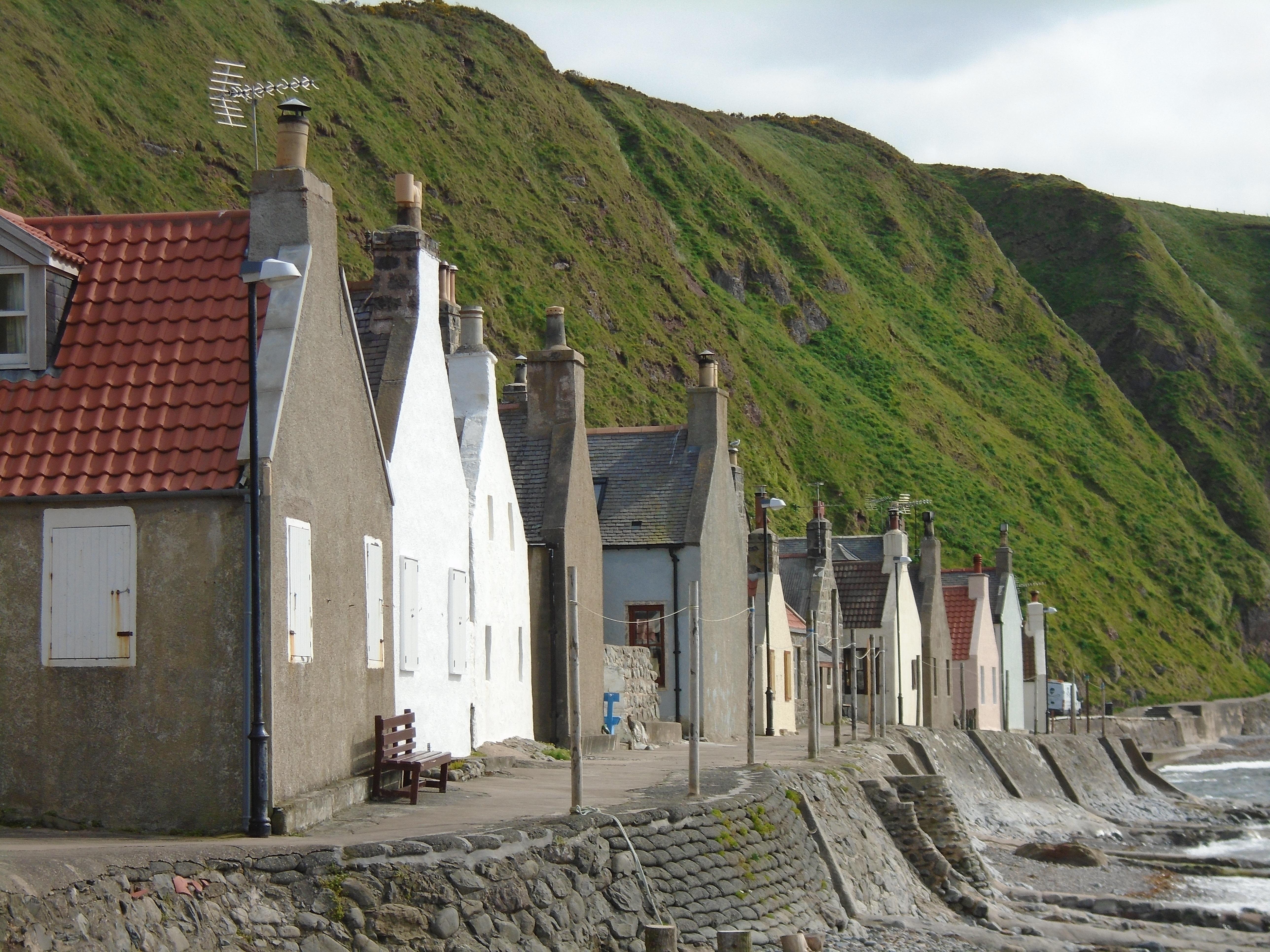 Free Images : landscape, coast, town, old, mountain range, village