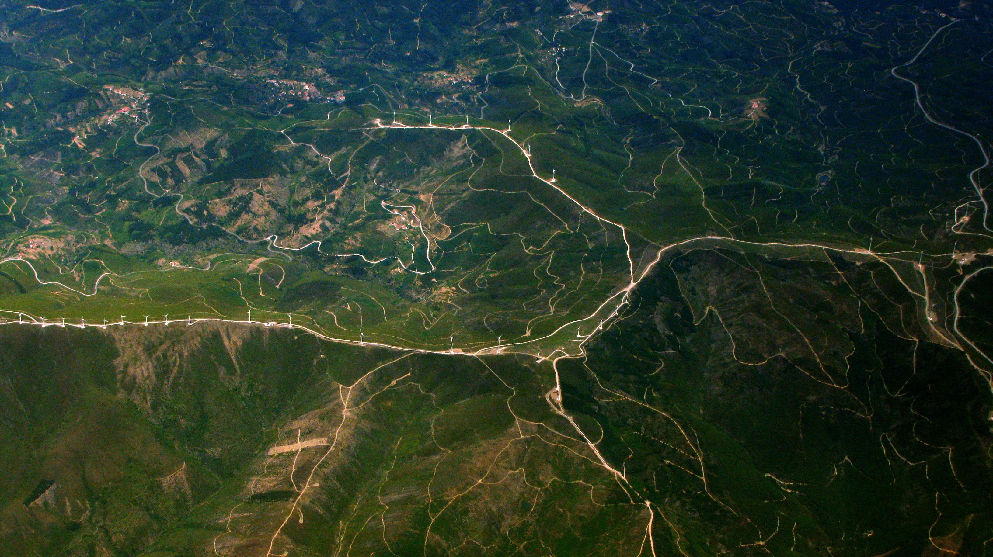 landscape coast road windmill river reflection terrain