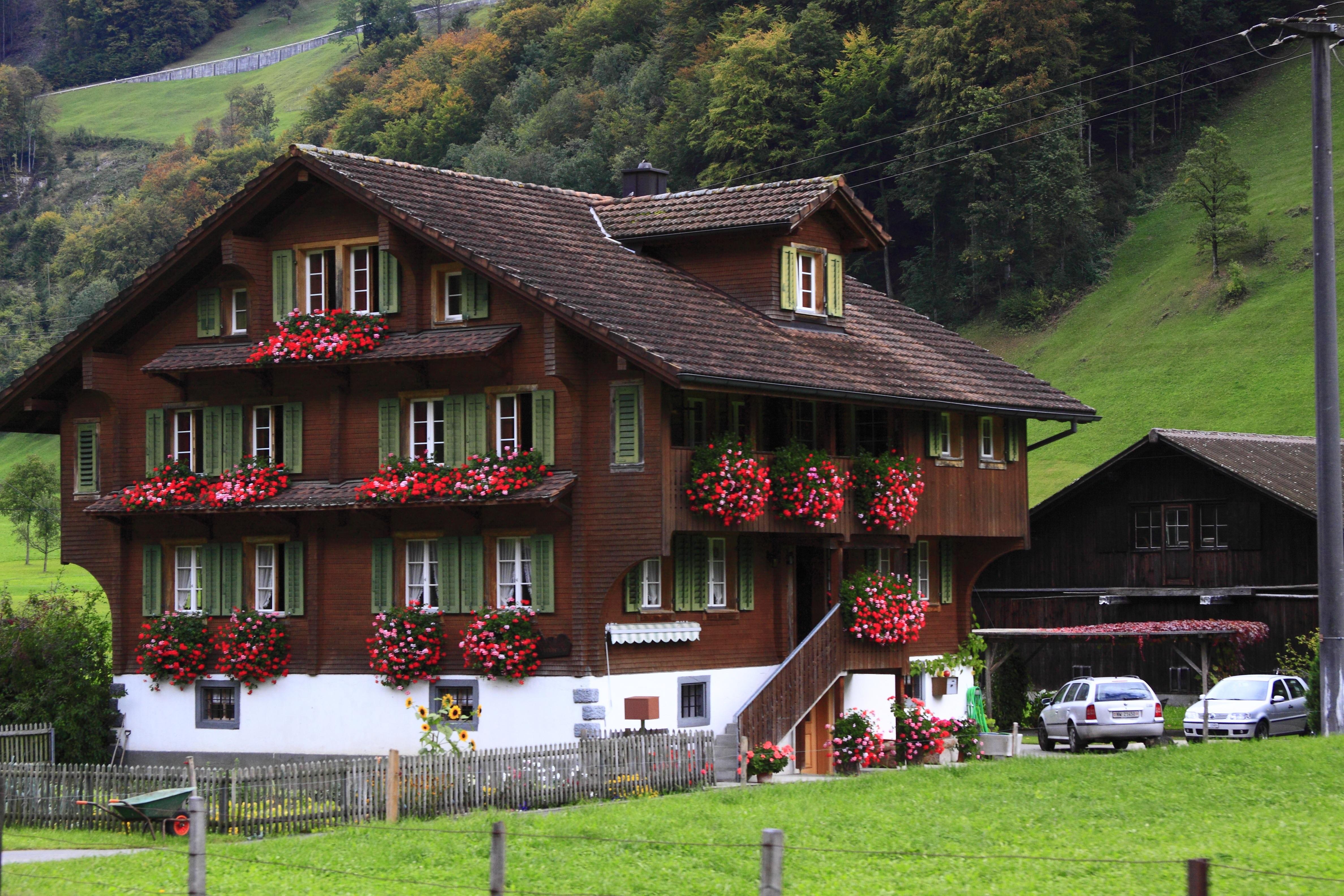 Images gratuites paysage ferme maison b timent for Agrandissement maison zone verte