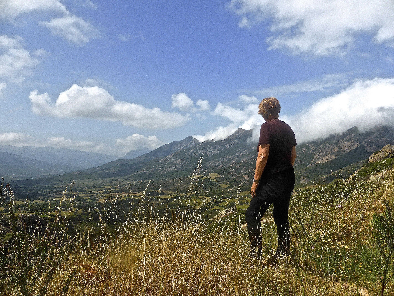 jumelle de randonnée en montagne