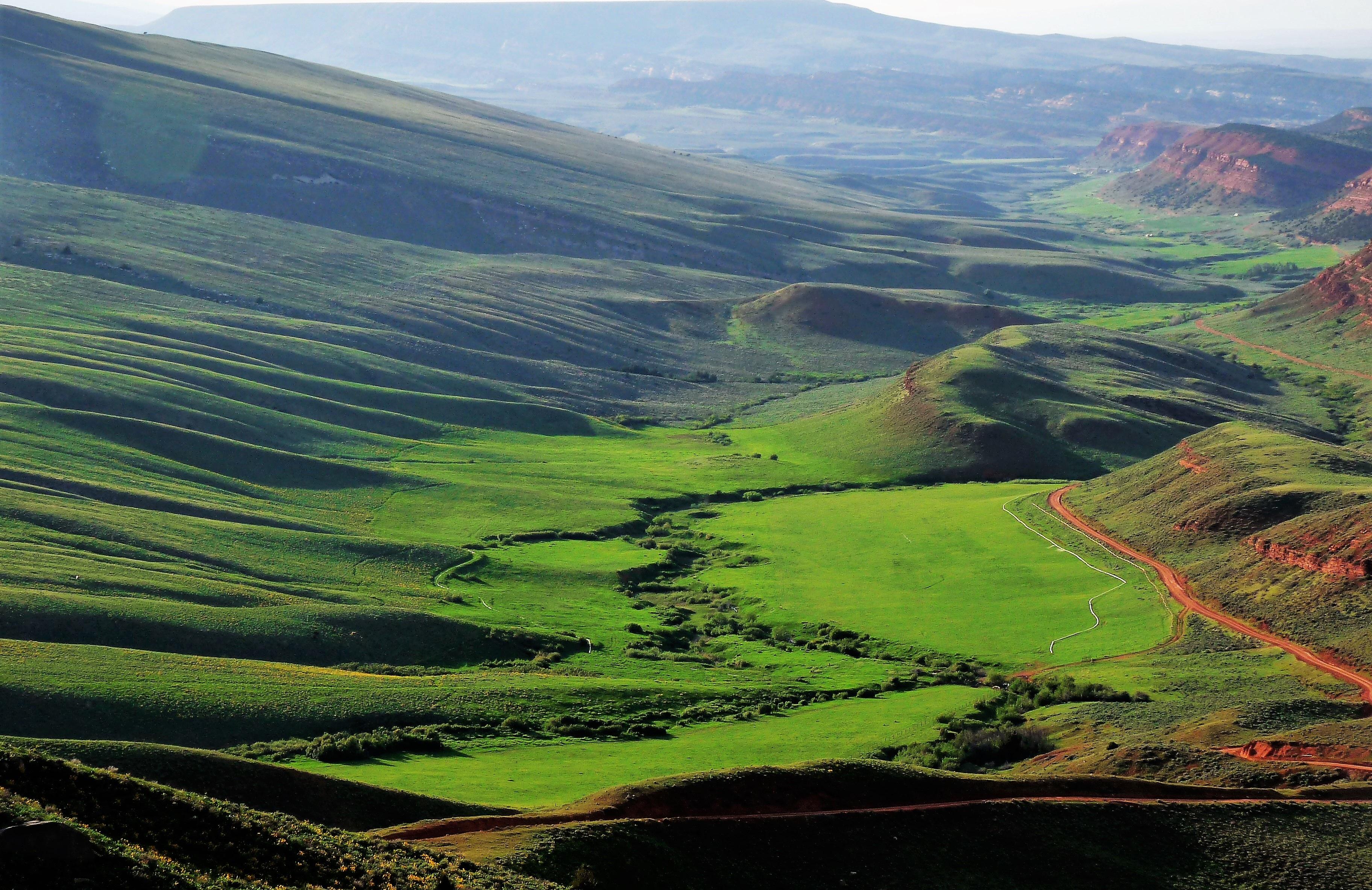 Gambar : pemandangan, gunung, bidang, padang rumput, bukit ...