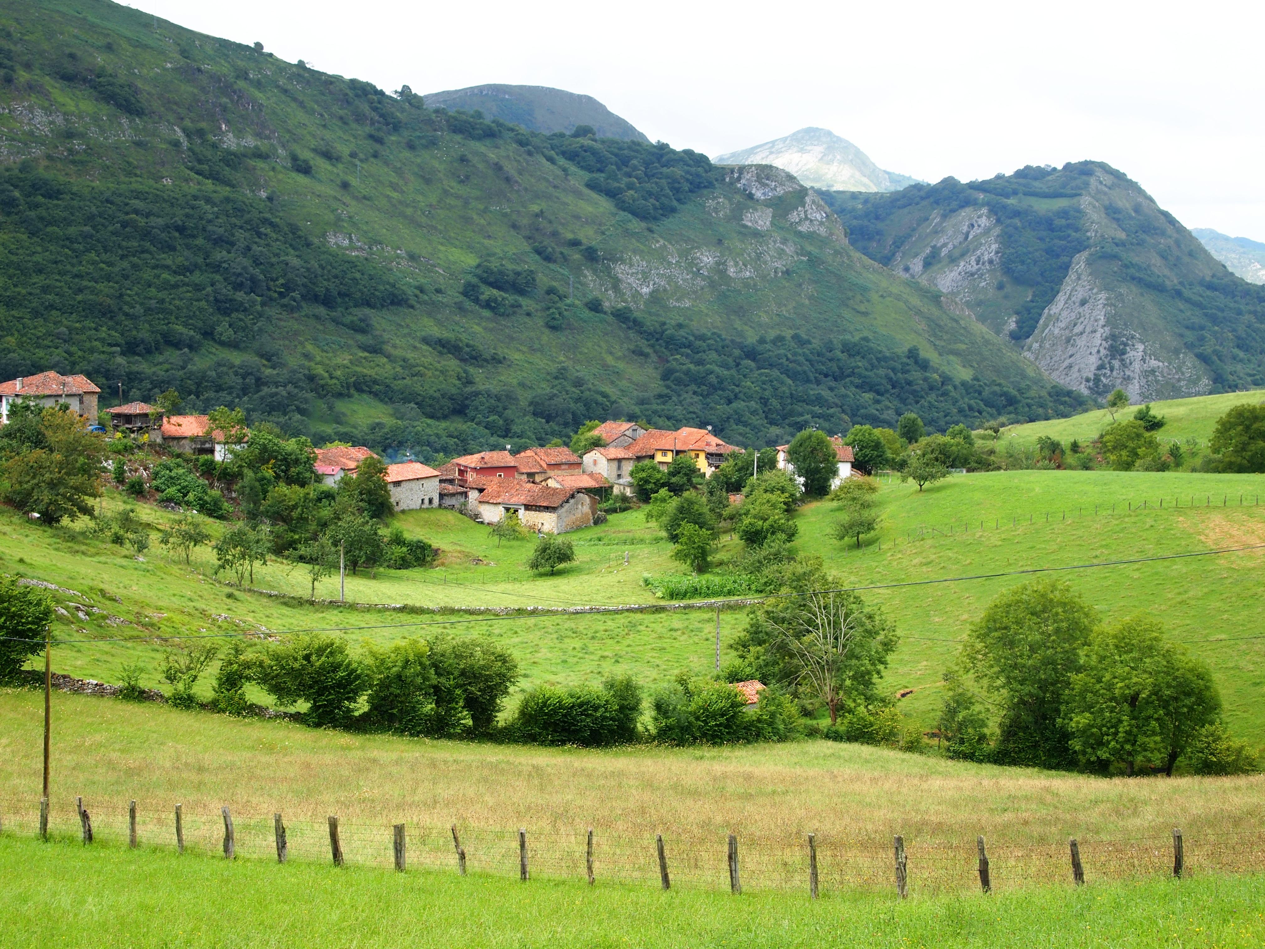 Gambar Pemandangan Gunung Bidang Padang Rumput Lembah