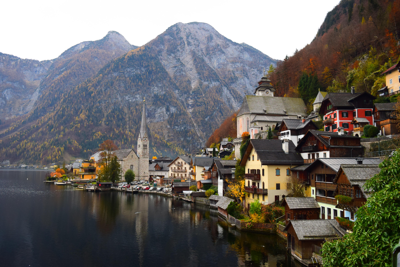 images gratuites   paysage  montagne  fleur  lac  ville