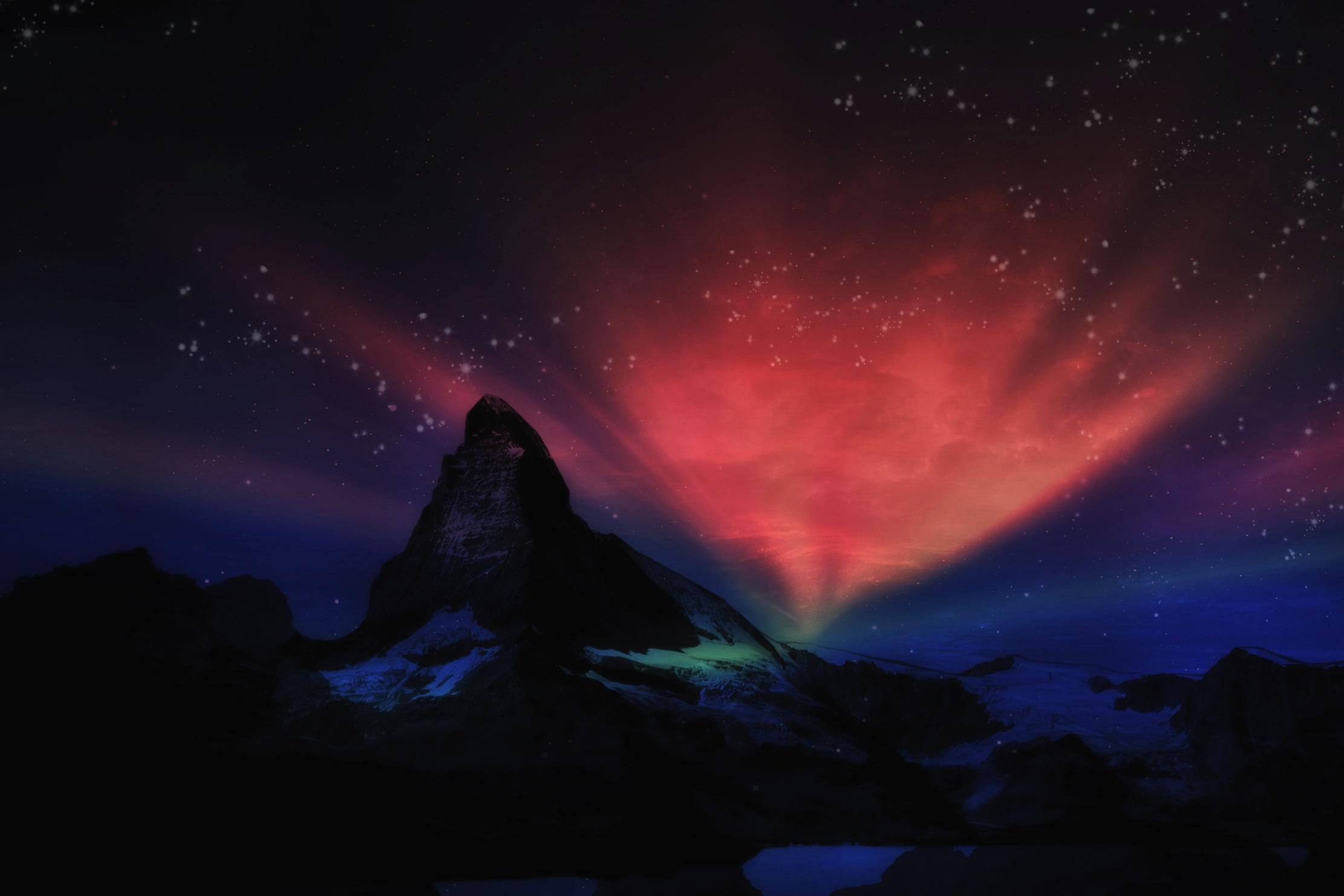 images gratuites paysage montagne embras ciel nuit. Black Bedroom Furniture Sets. Home Design Ideas