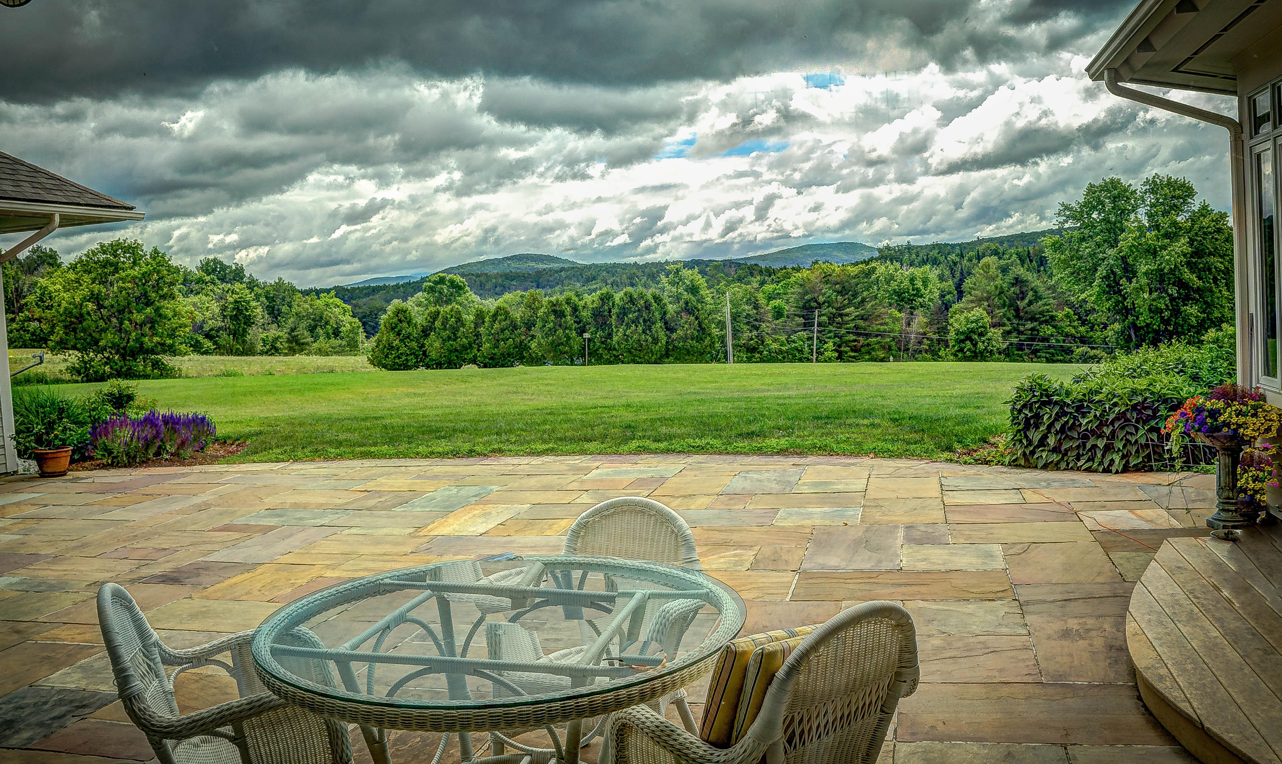 Landschaft Berg Panorama Ferien Grün Hinterhof Garten Berge Immobilien  Vermont Ländliches Gebiet Mansfield Mount Mansfield Unterhaufen Nice Look
