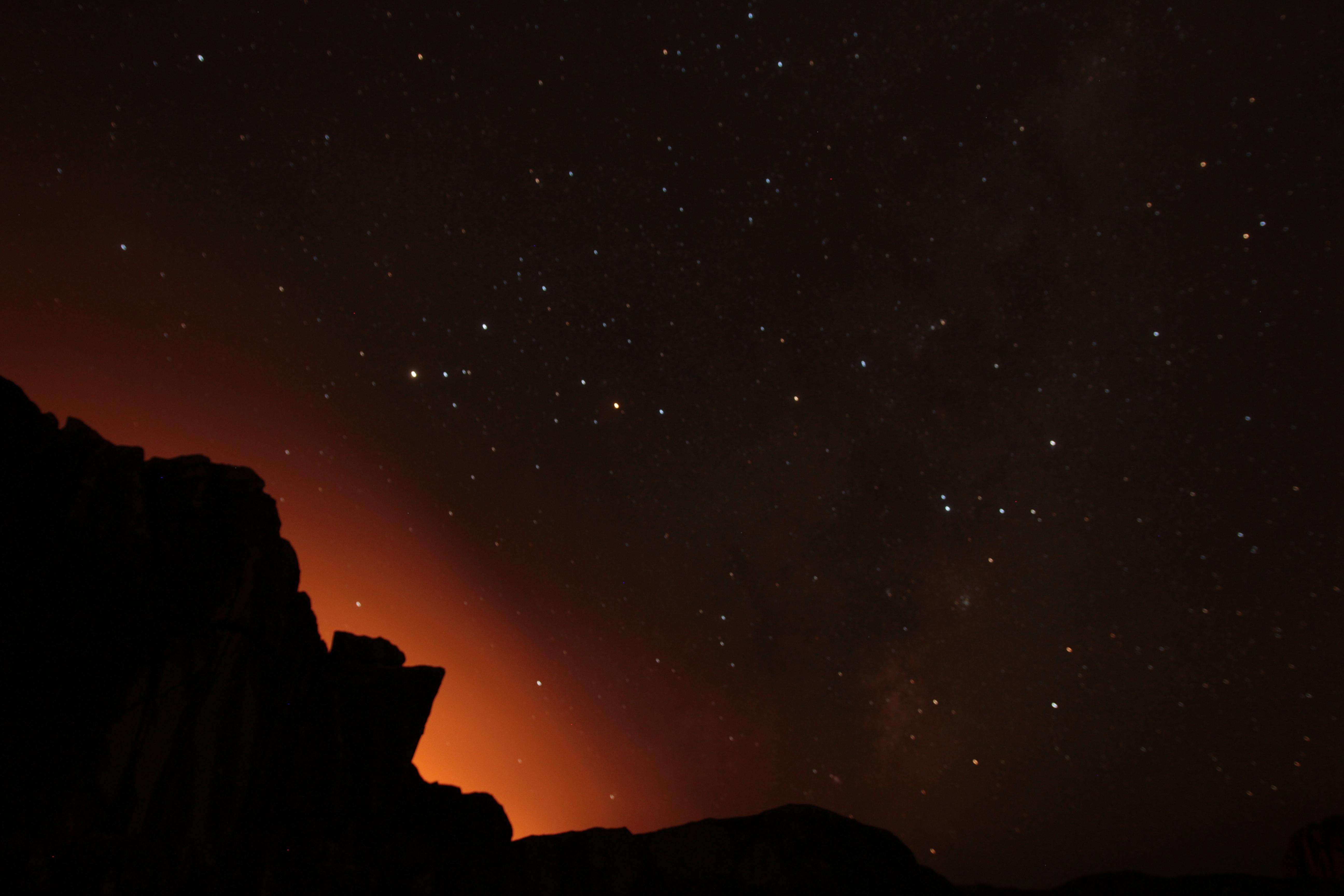 stars mountain night - photo #44