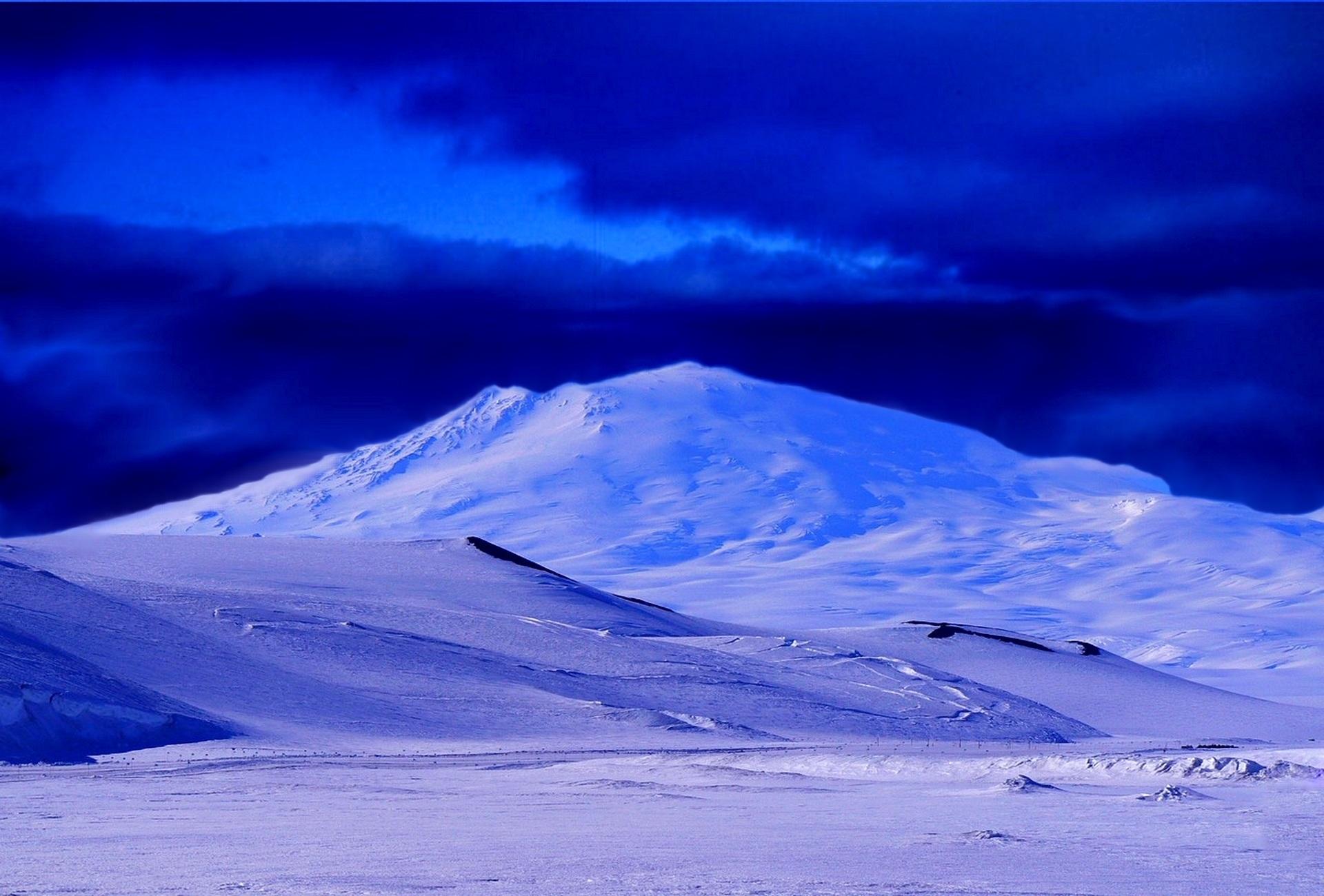 Gambar Pemandangan Salju Awan Langit Gelombang Pegunungan