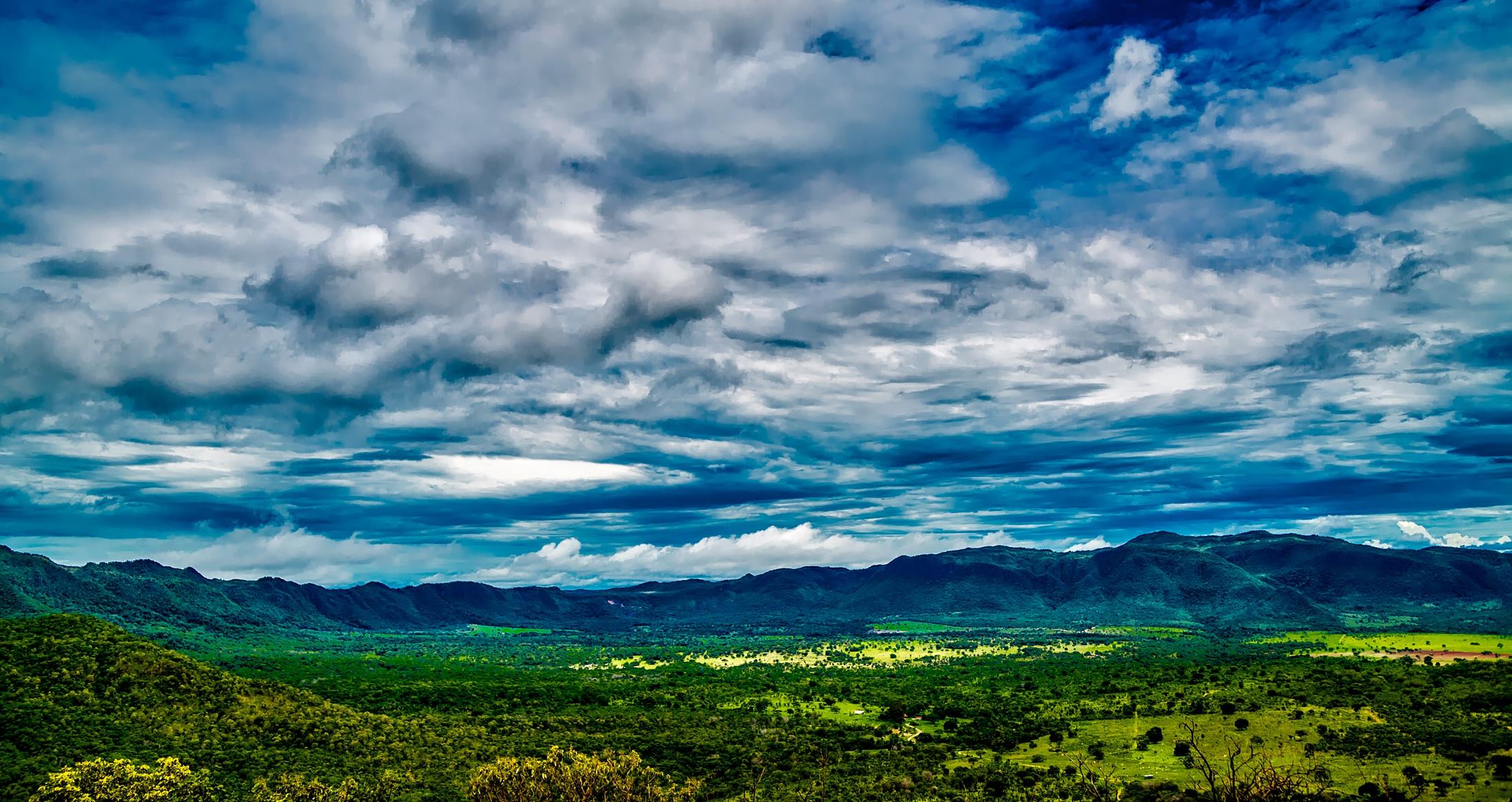Gambar Pemandangan Hutan Horison Gurun Gunung Langit