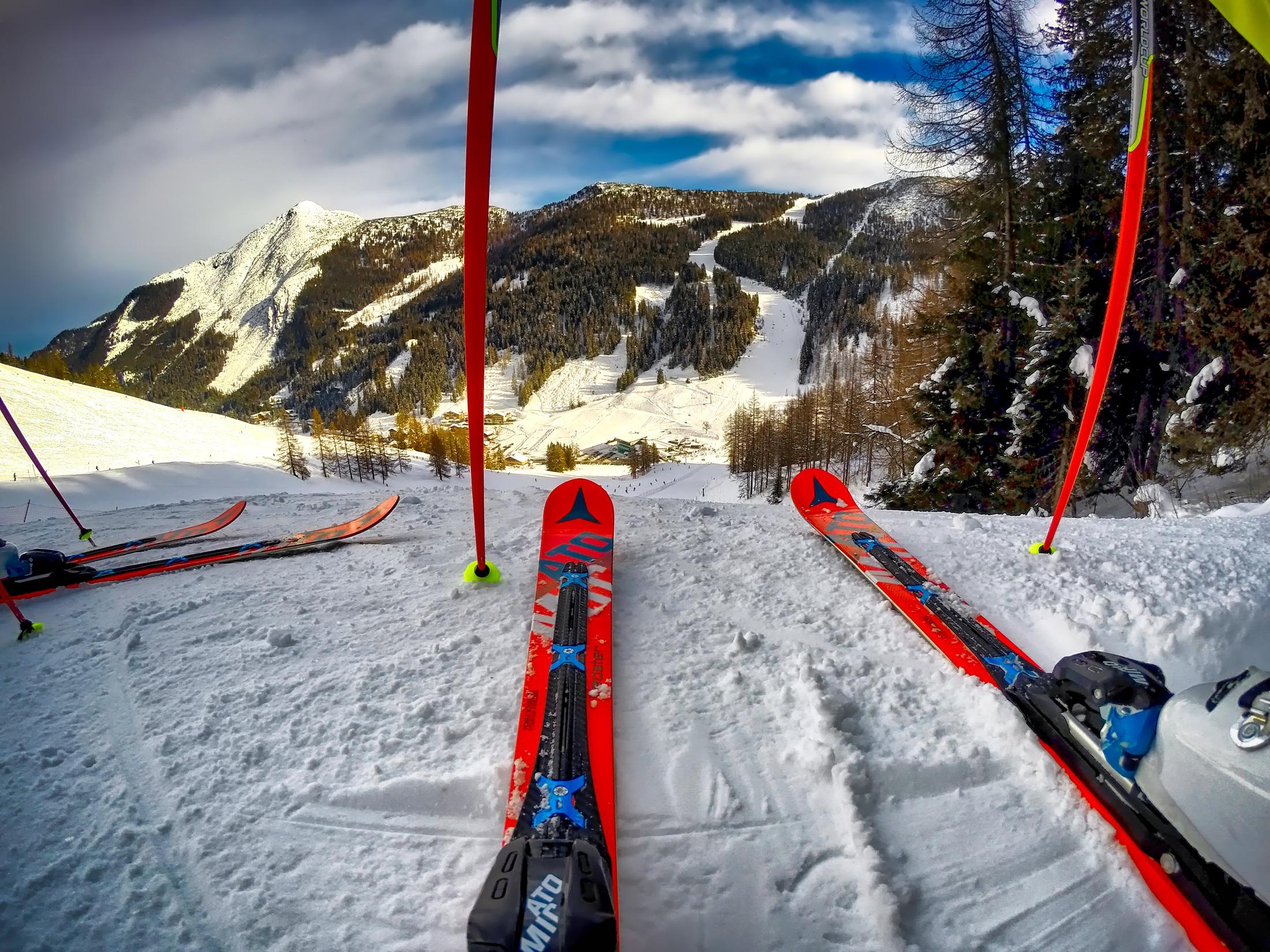На горные лыжи картинки