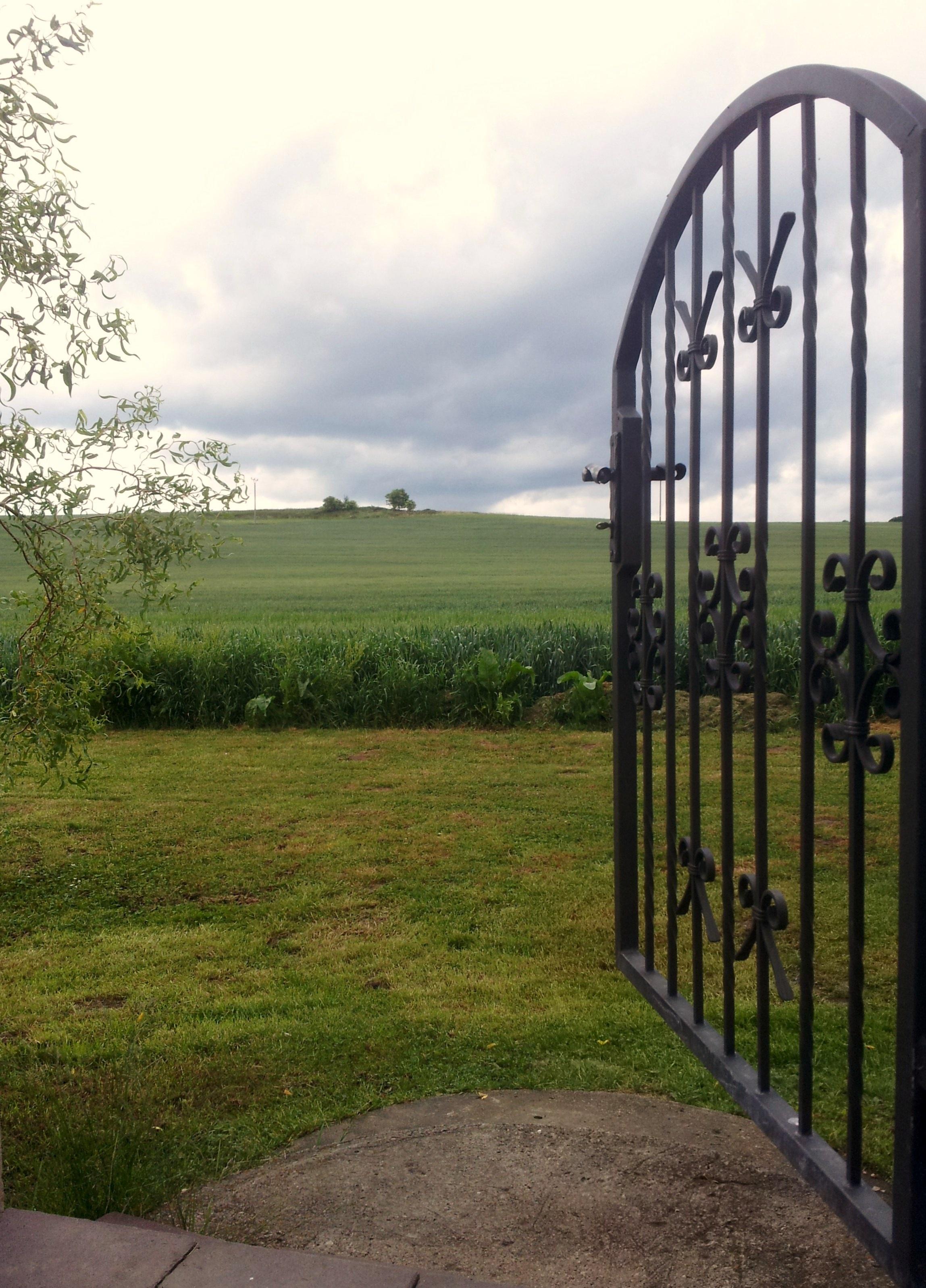 Kostenlose foto Landschaft Natur Gras Zaun Sommer Garten