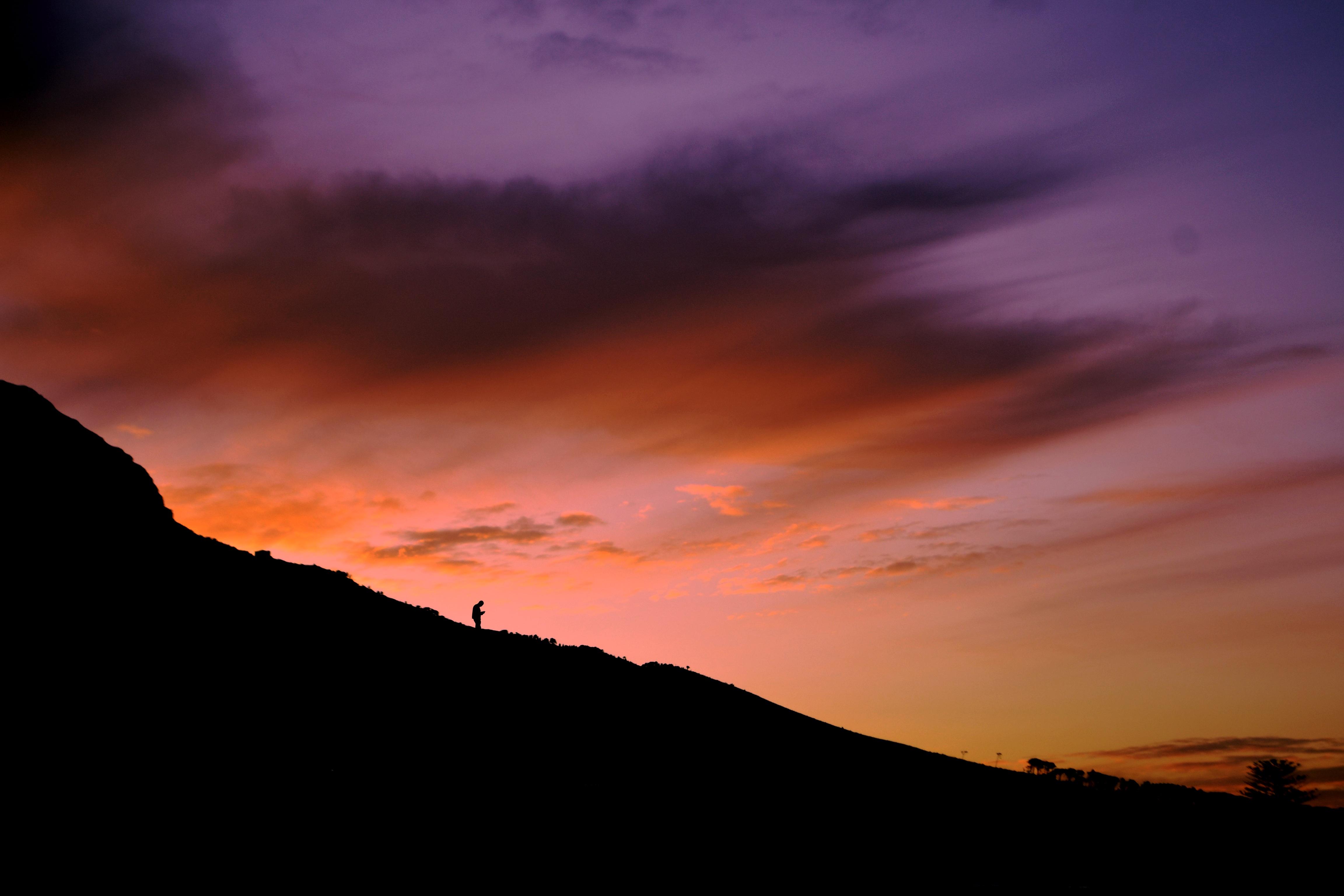 закат склон sunset the slope  № 1569318  скачать