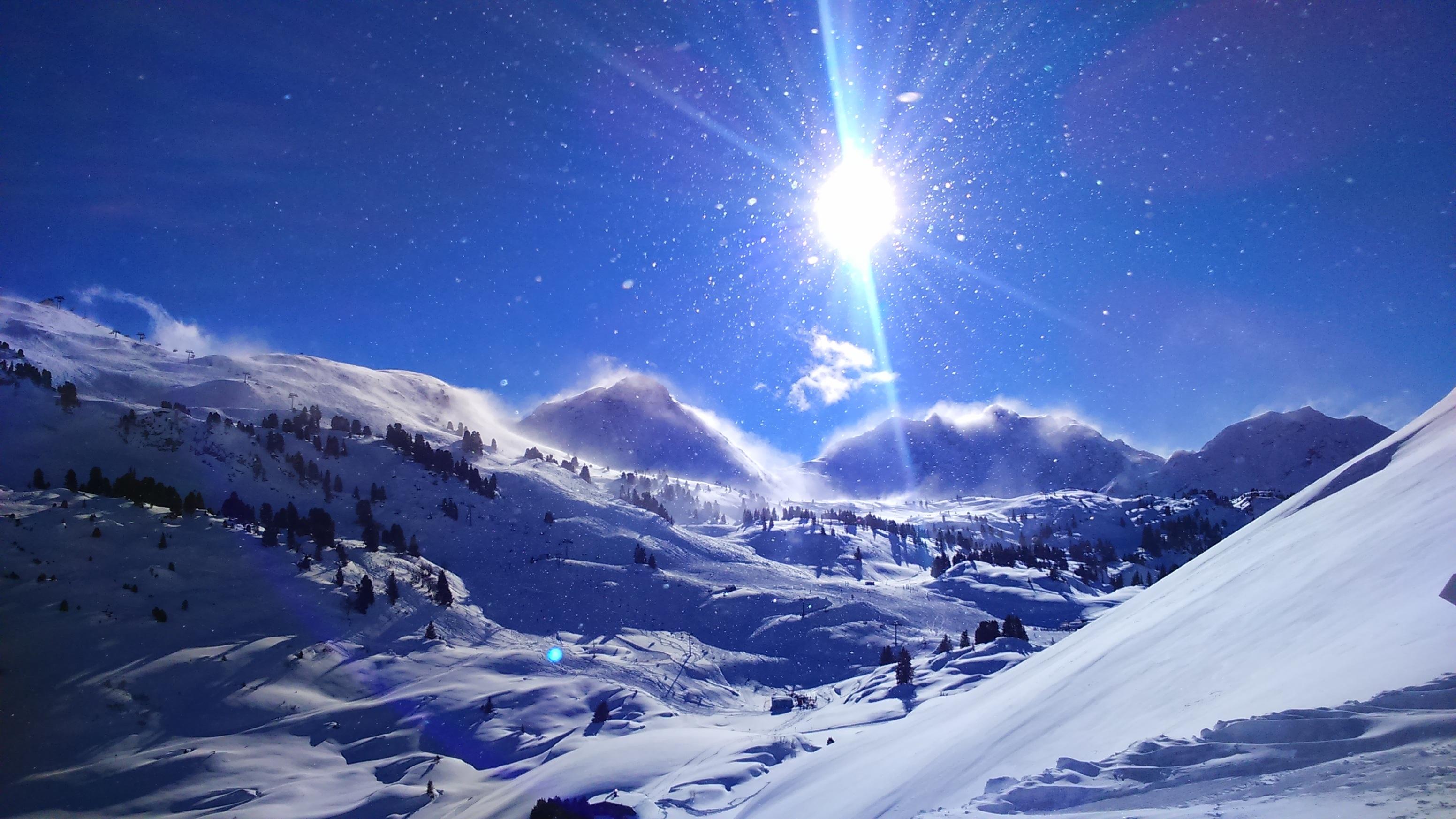 горы снег солнце фото салона районе педали