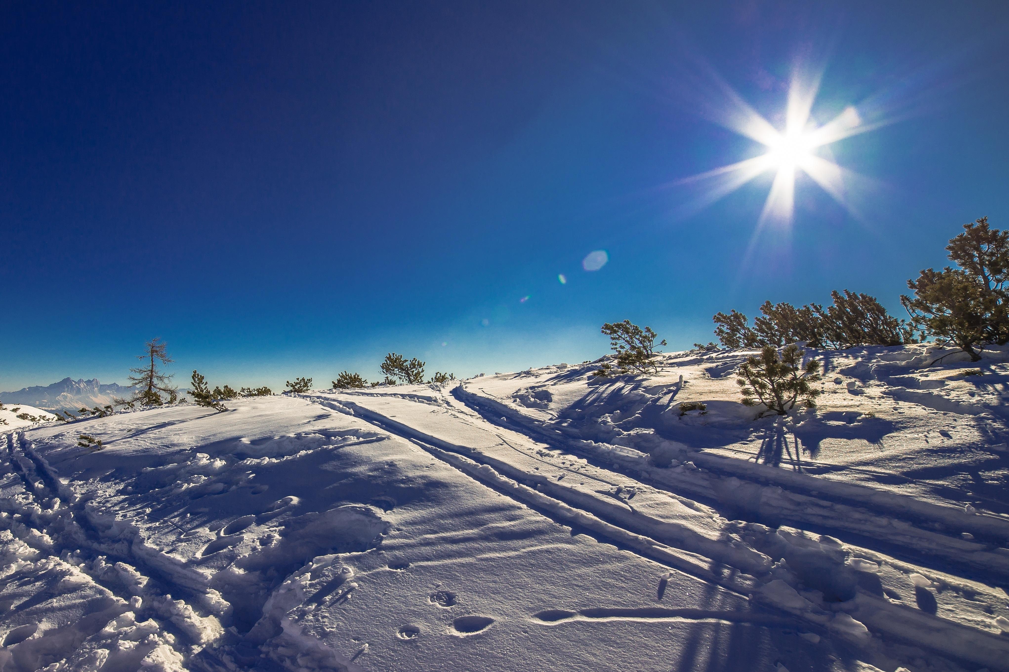 картинки на рабочий стол небо солнце снег дом