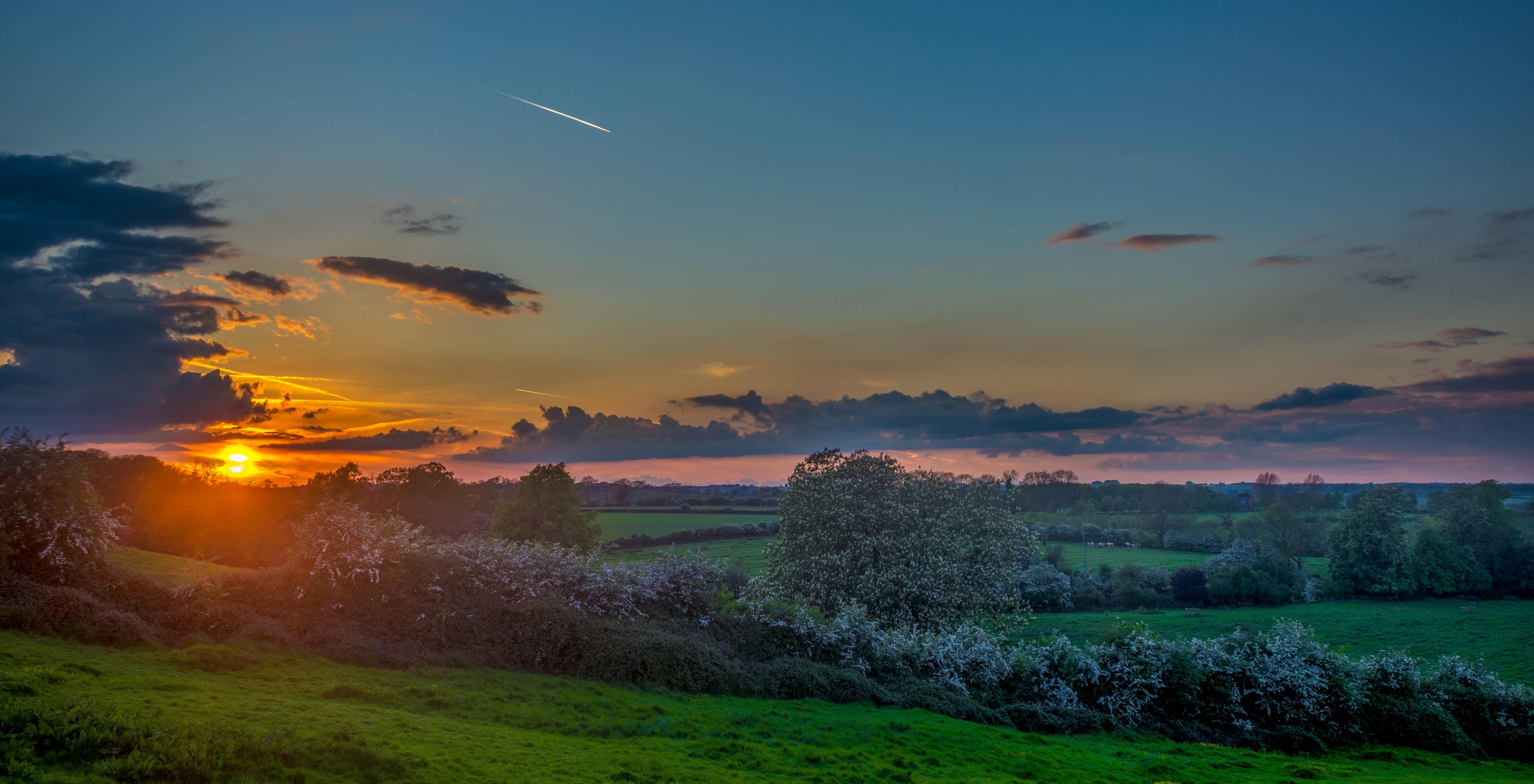 Free nature outdoor horizon cloud sky sun field