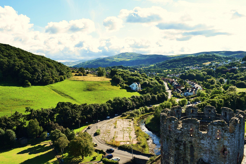 Scenic Near Harlech, North Wales, Great Britain бесплатно